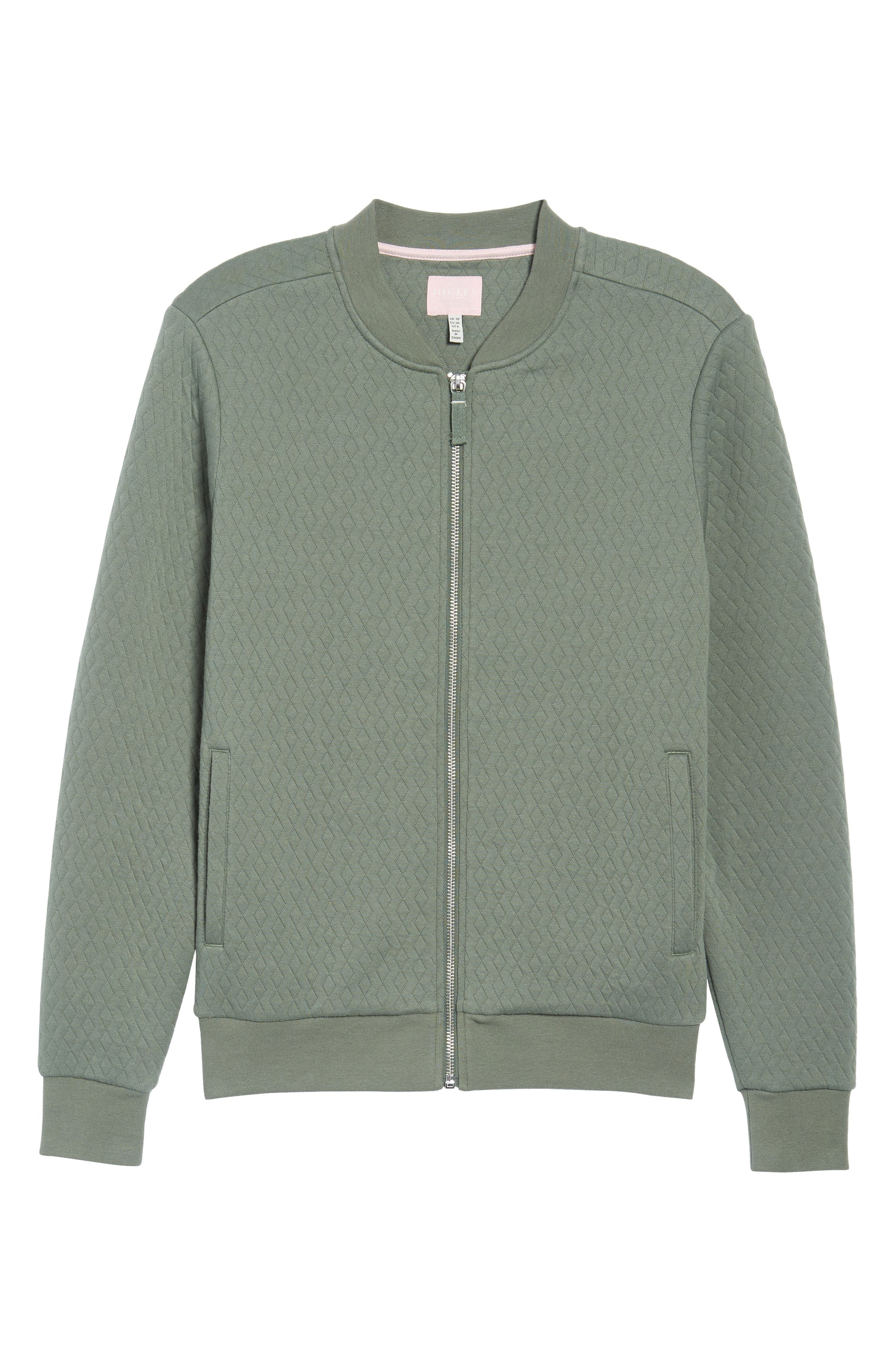 Millie Bomber Sweatshirt Jacket,                         Main,                         color, Laurel