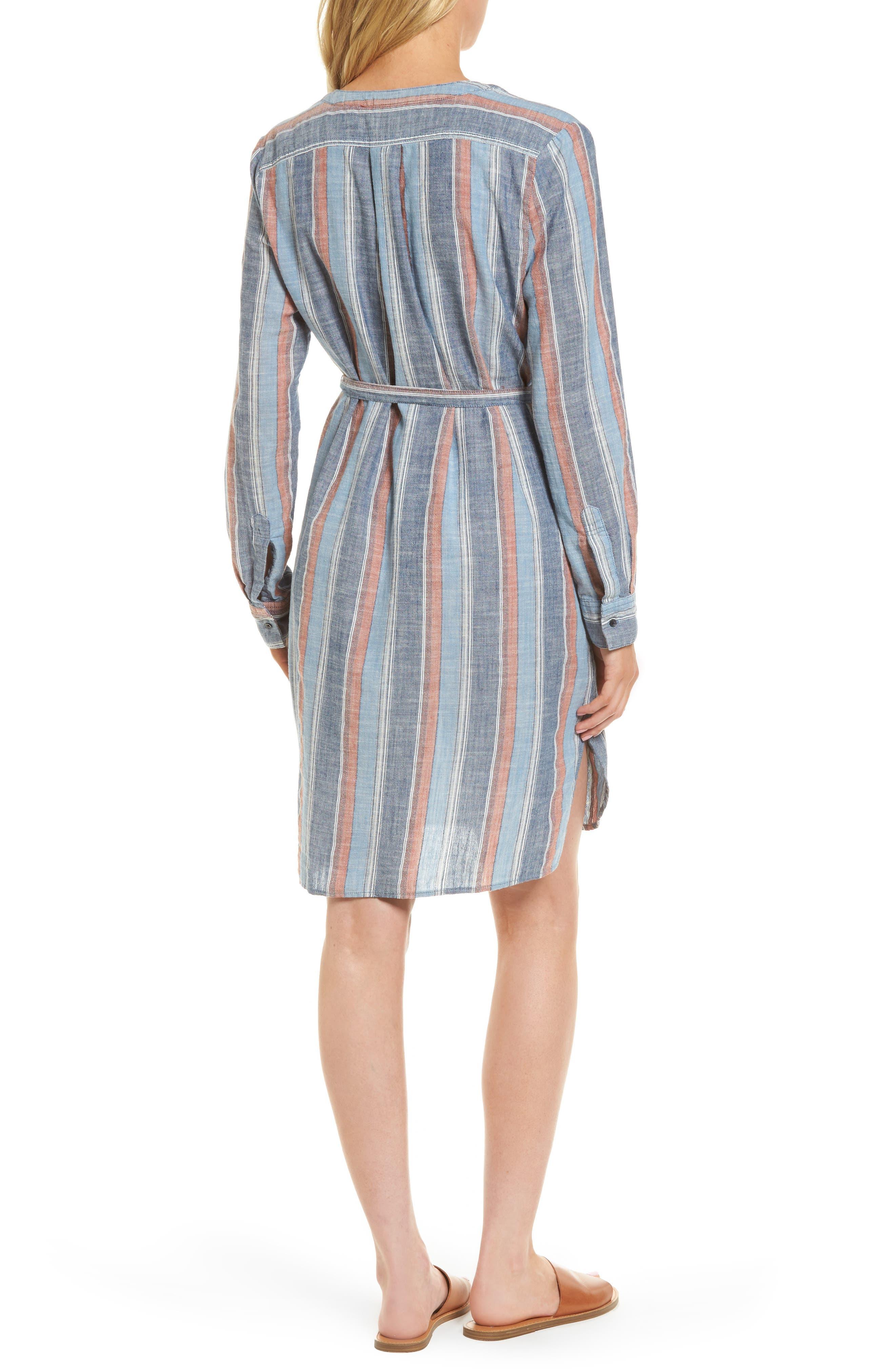 Anna Henley Dress,                             Alternate thumbnail 2, color,                             Blue Fig Multi