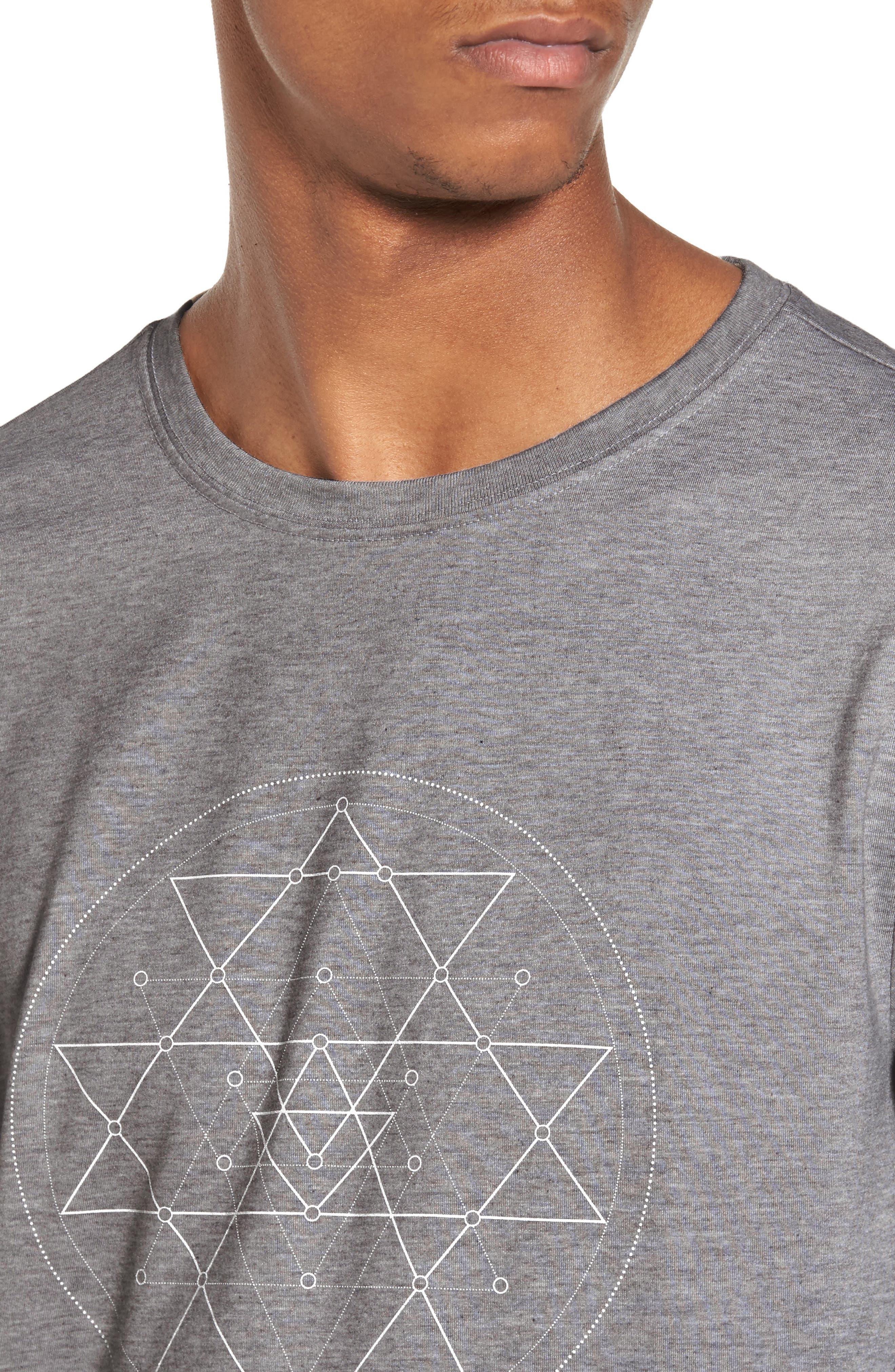Yantra Long Sleeve T-Shirt,                             Alternate thumbnail 8, color,                             Heather Grey/ Heather Grey