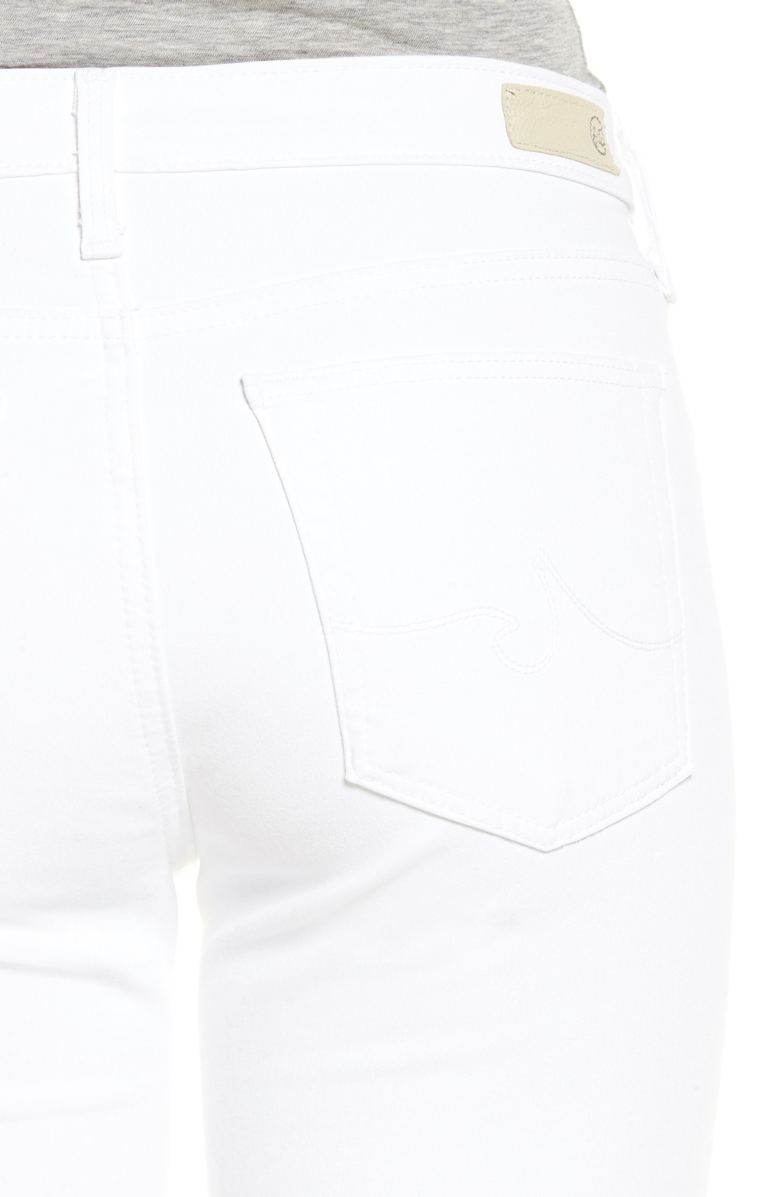 Prima Cigarette Leg Jeans,                             Alternate thumbnail 4, color,                             White