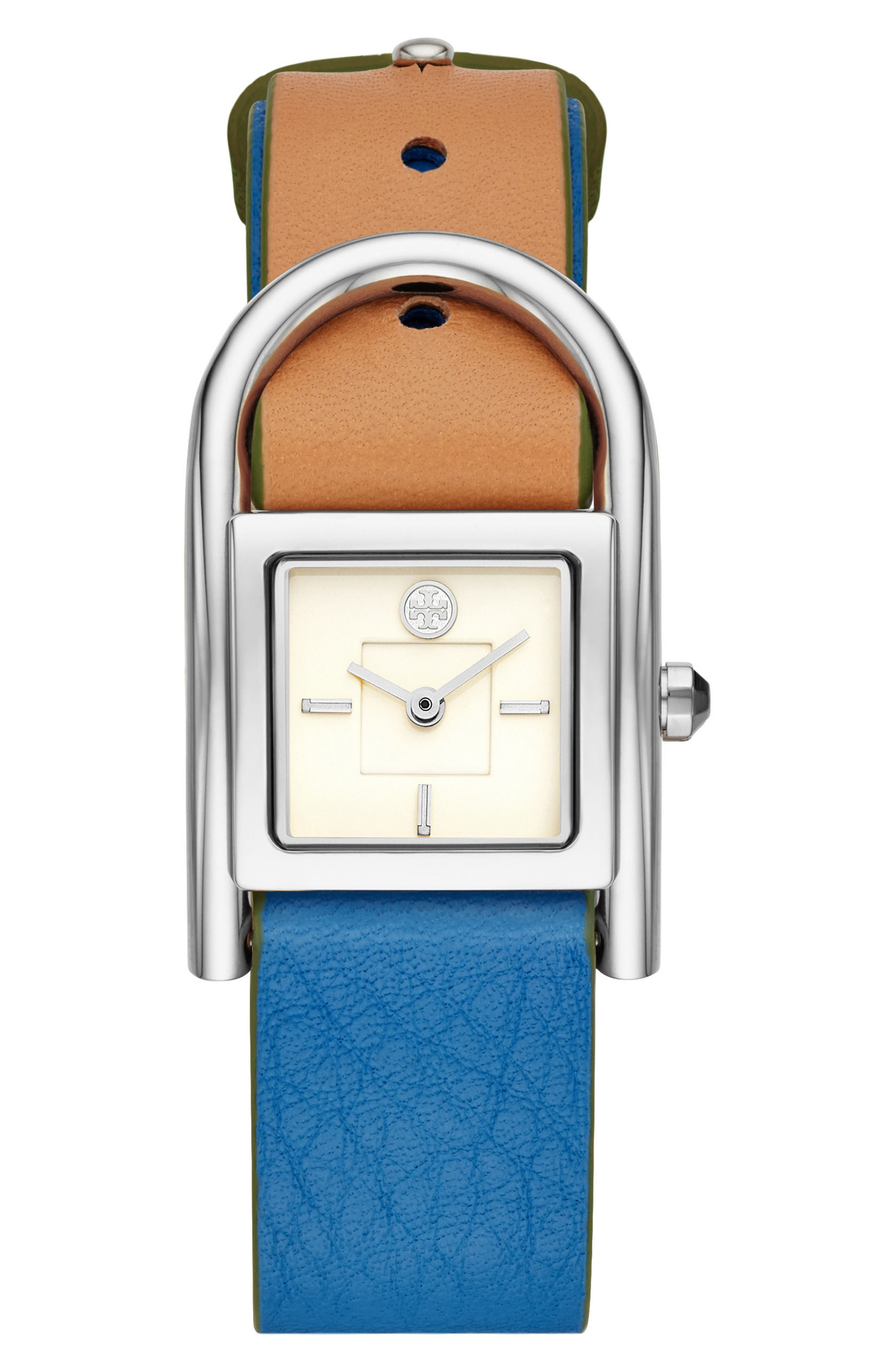 Thayer Leather Strap Watch, 25mm x 39mm,                             Main thumbnail 1, color,                             Beige/ Cream/ Silver