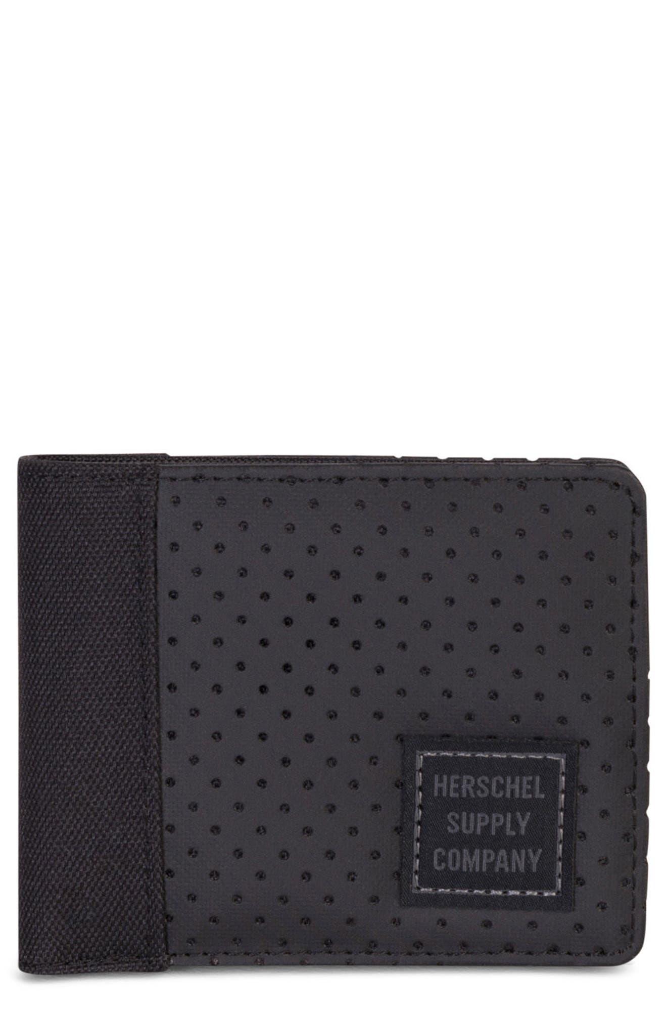 Edward Aspect Perforated Wallet,                             Main thumbnail 1, color,                             Black