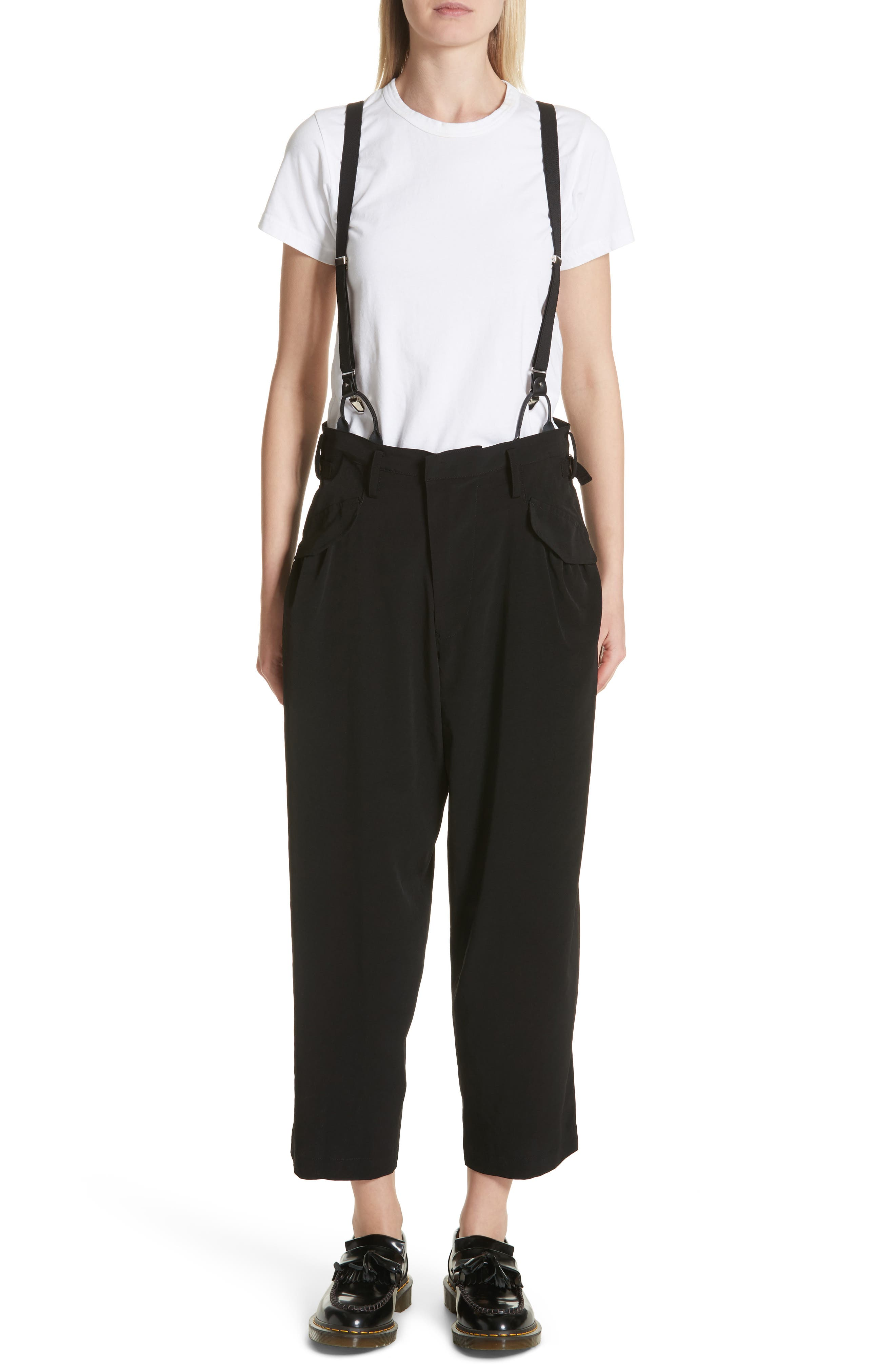 Pants with Suspenders,                             Main thumbnail 1, color,                             Black