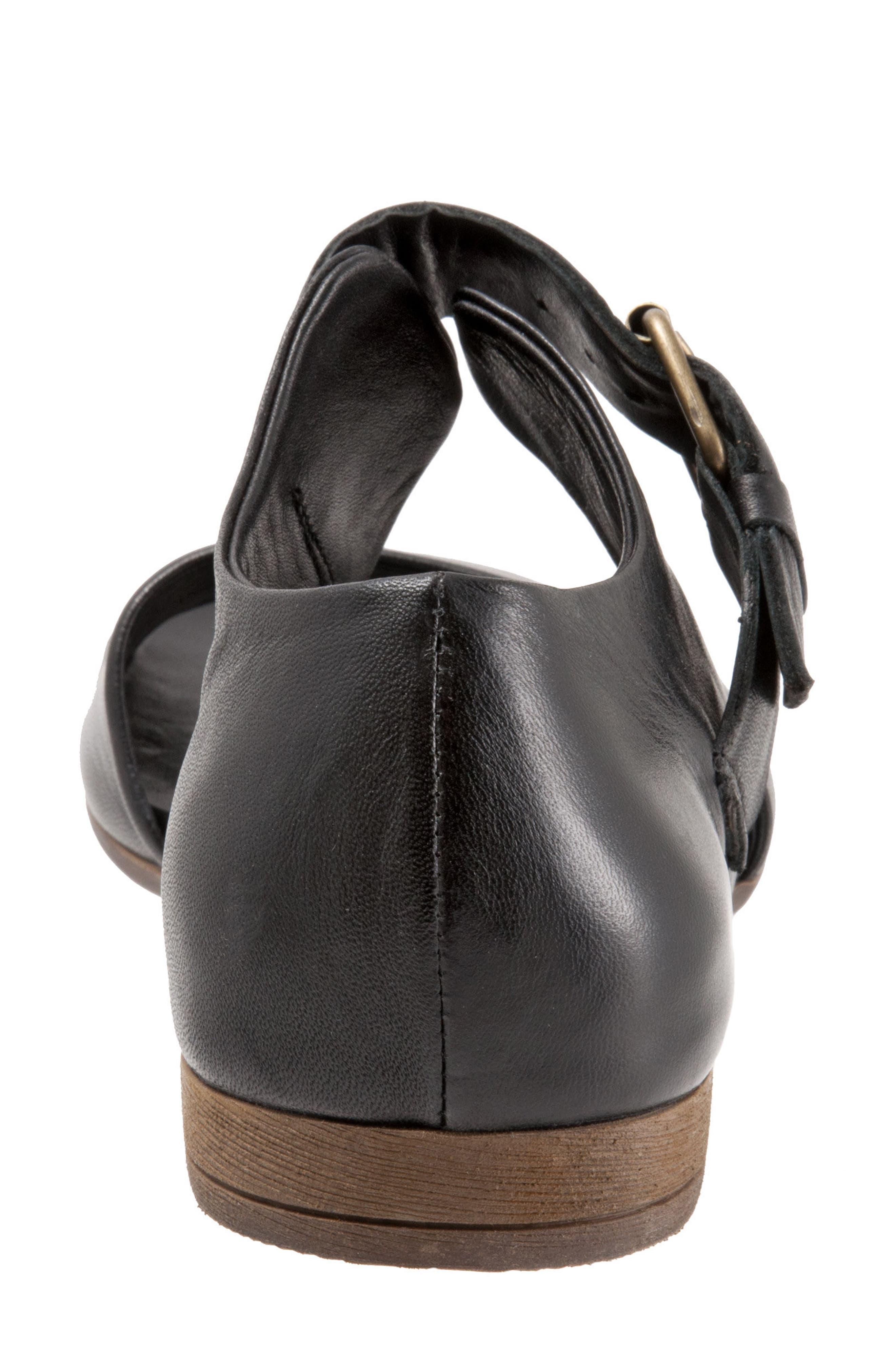 Talia Sandal,                             Alternate thumbnail 6, color,                             Black Leather