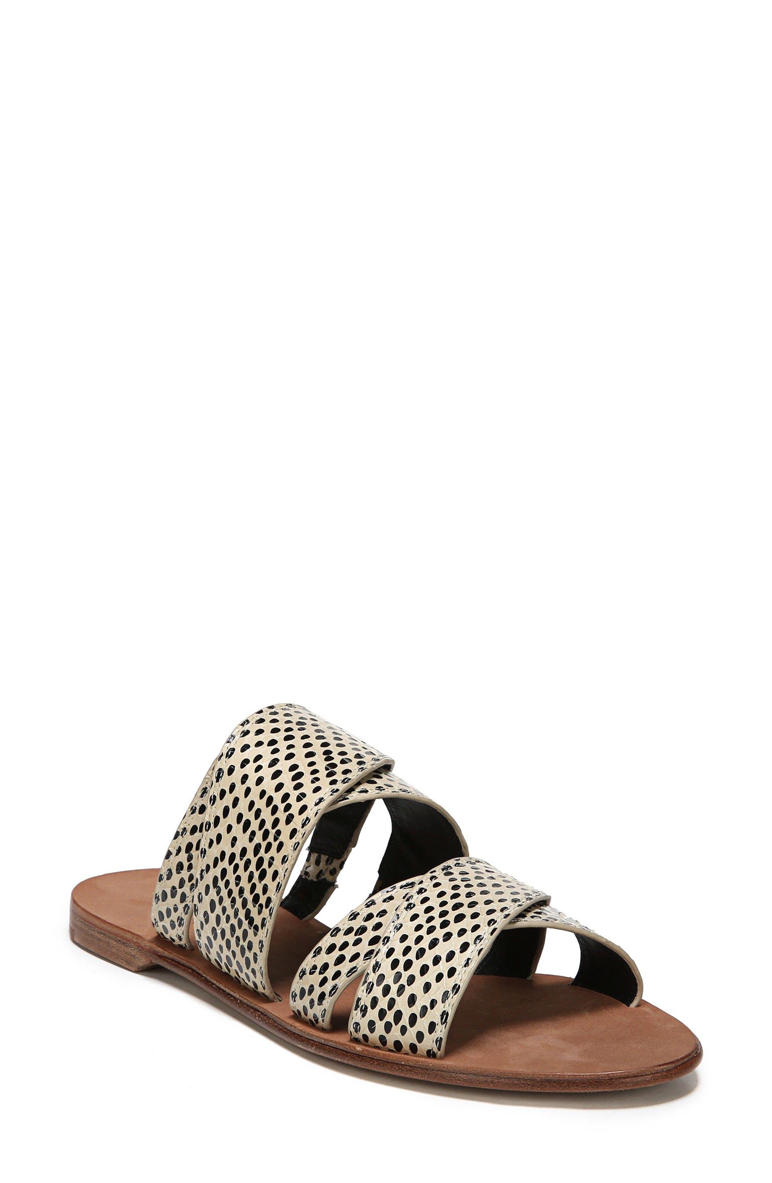 Blake Snakeskin Slide Sandal,                         Main,                         color, Black/Nude