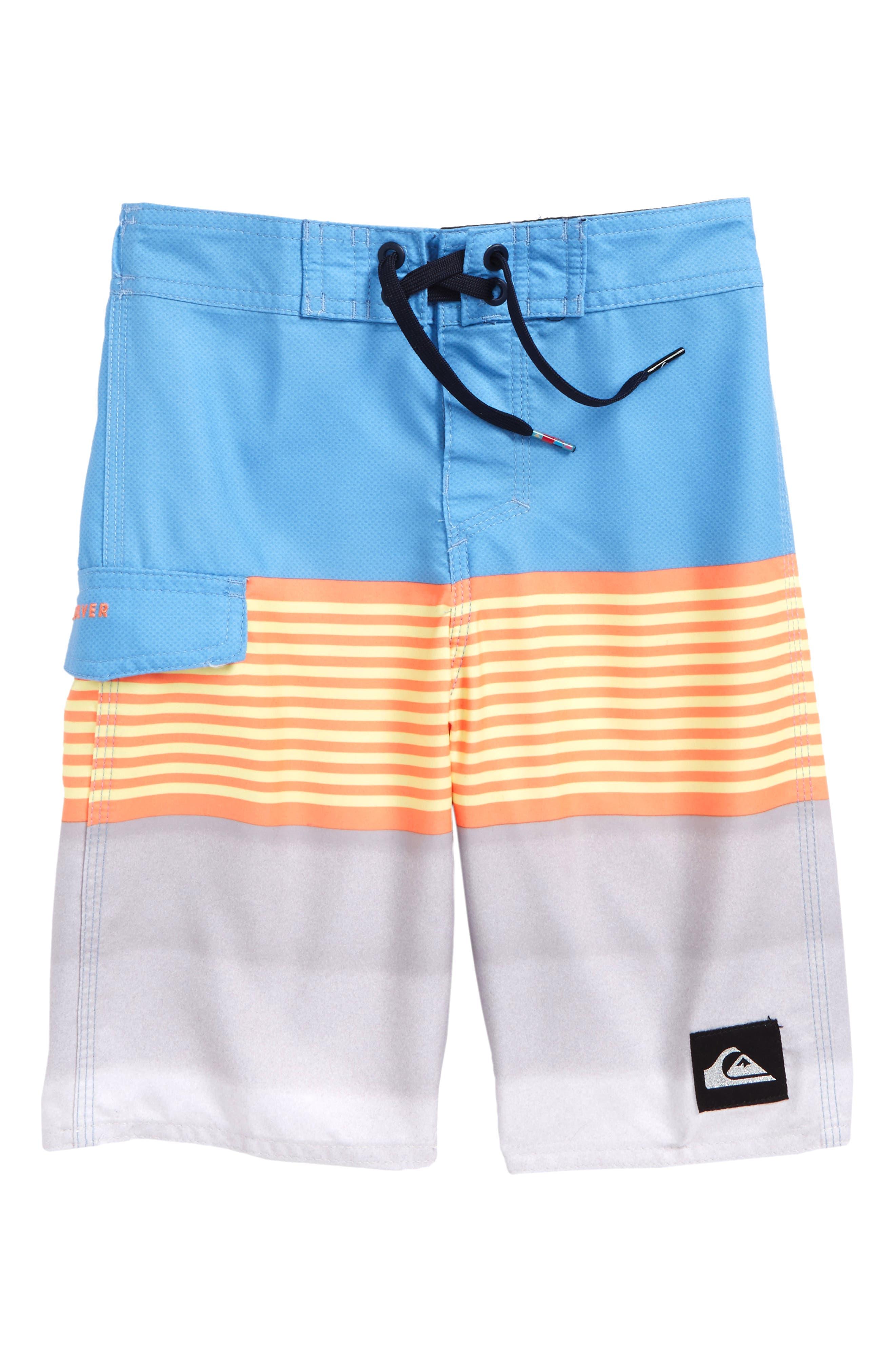 Division Board Shorts,                         Main,                         color, Silver Lake Blue