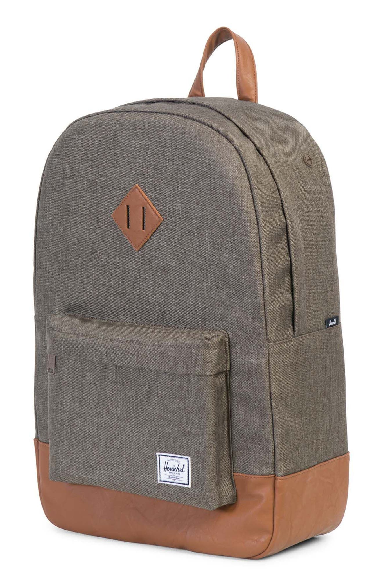 Heritage Backpack,                             Alternate thumbnail 4, color,                             Canteen Crosshatch/ Tan