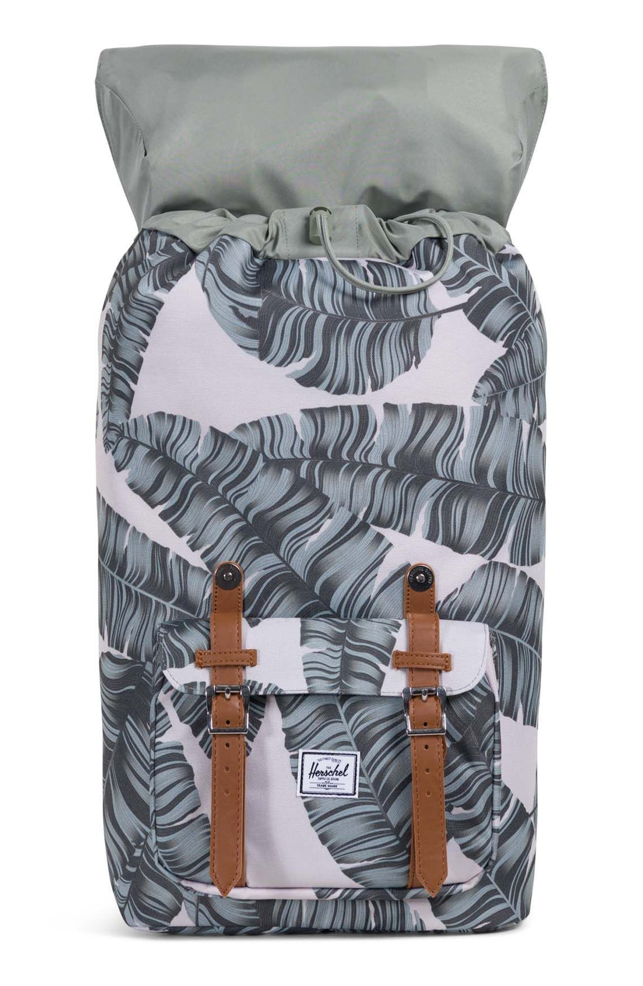 'Little America' Backpack,                             Alternate thumbnail 3, color,                             Silver Birch Palm/ Tan