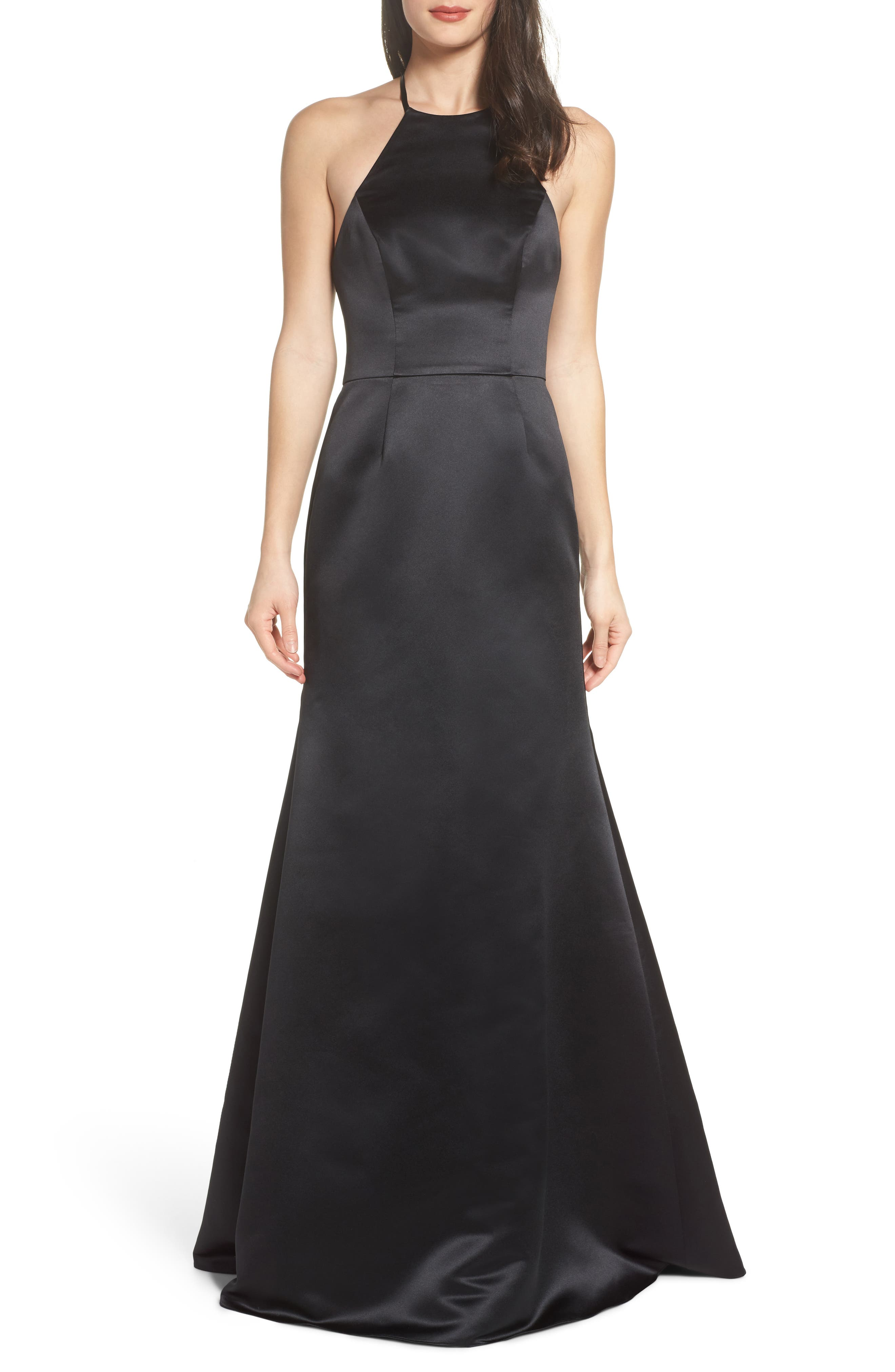 Alternate Image 1 Selected - Hayley Paige Occasions Satin A-Line Gown