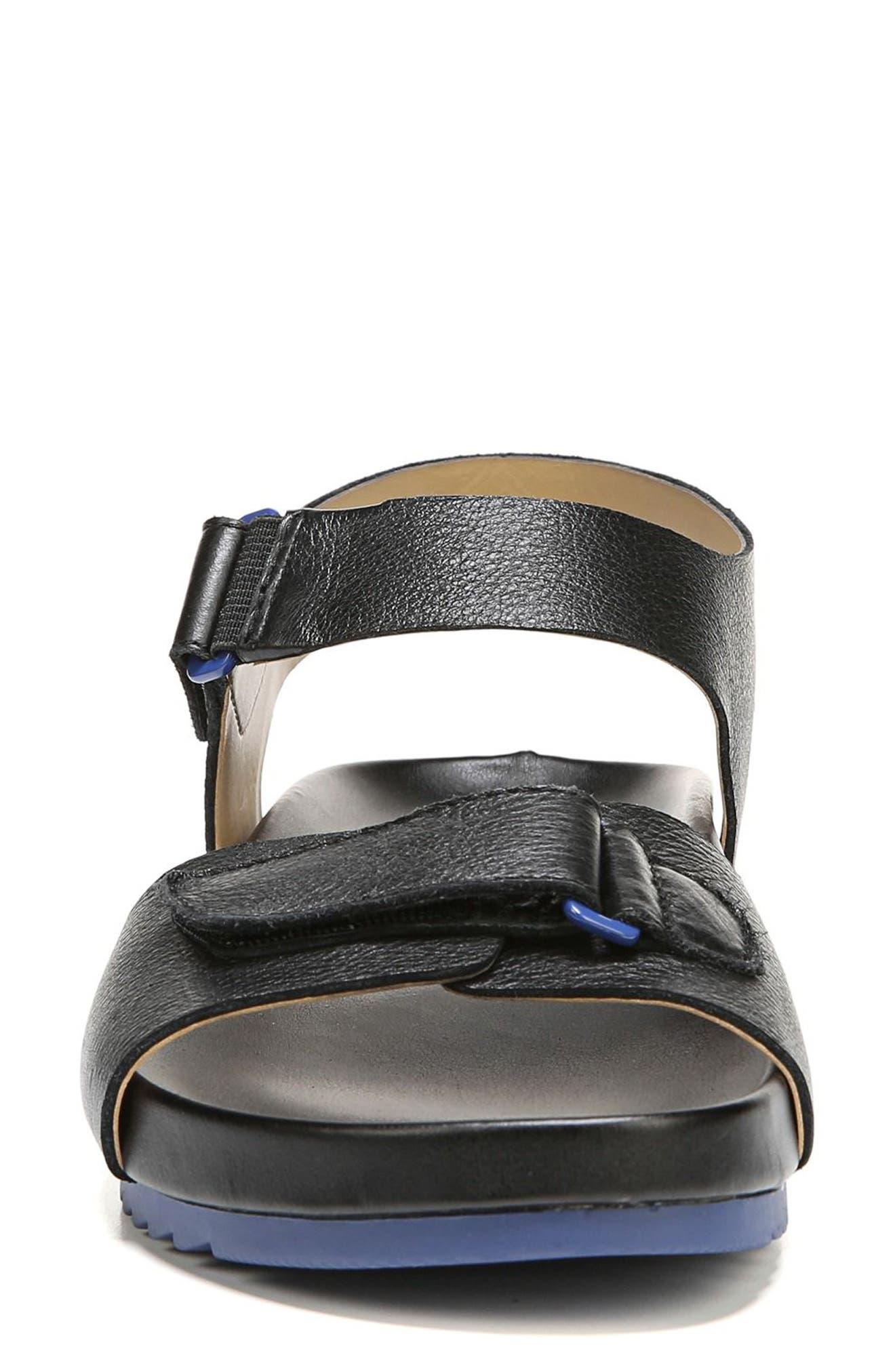 Ari Sandal,                             Alternate thumbnail 4, color,                             Black Pebble Leather