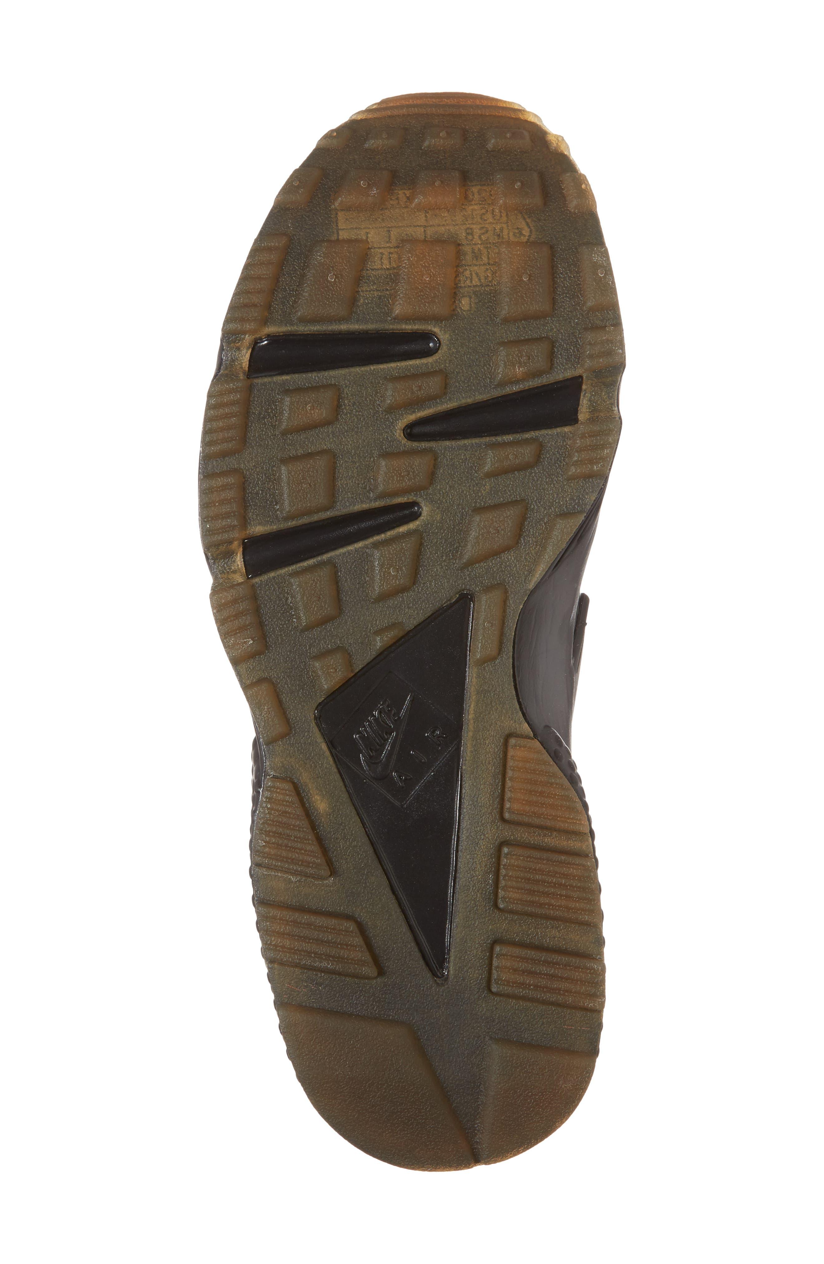 'Air Huarache' Sneaker,                             Alternate thumbnail 6, color,                             Black/ Elemental Gold/ Brown