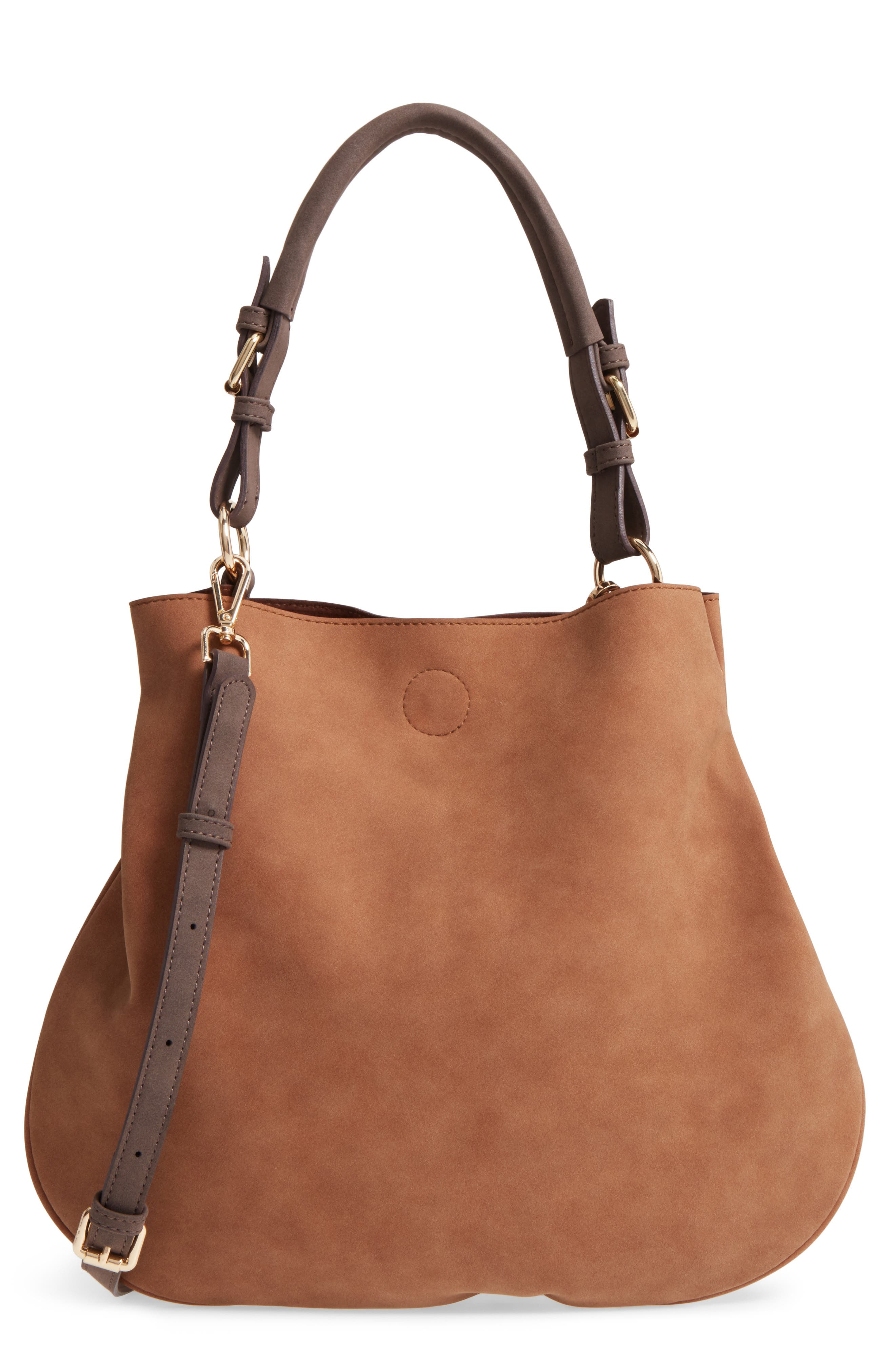 Sole Society Roman Faux Leather Slouchy Tote