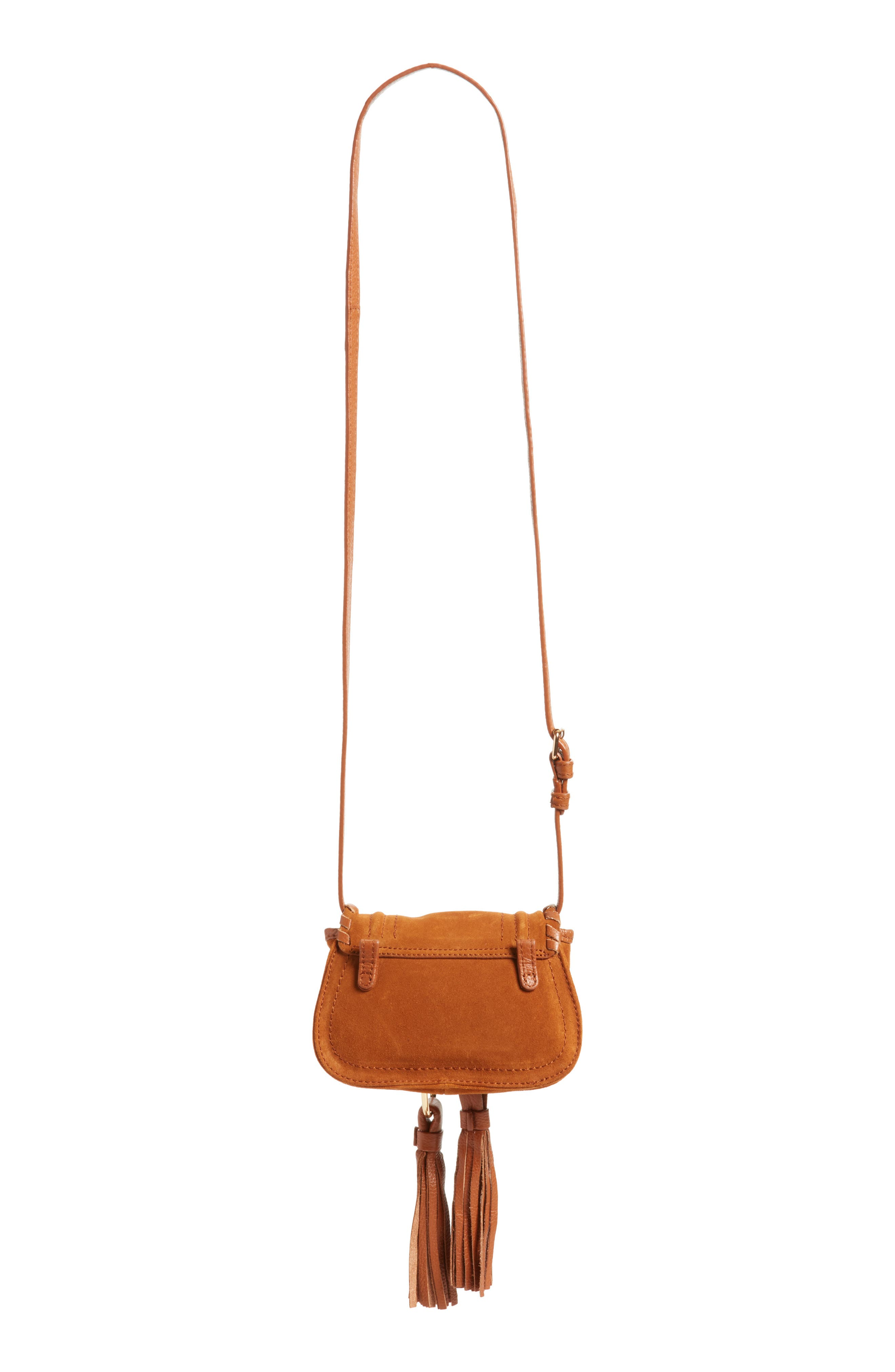 Polly Suede Convertible Crossbody Bag/Fanny Pack,                             Alternate thumbnail 3, color,                             Caramelo