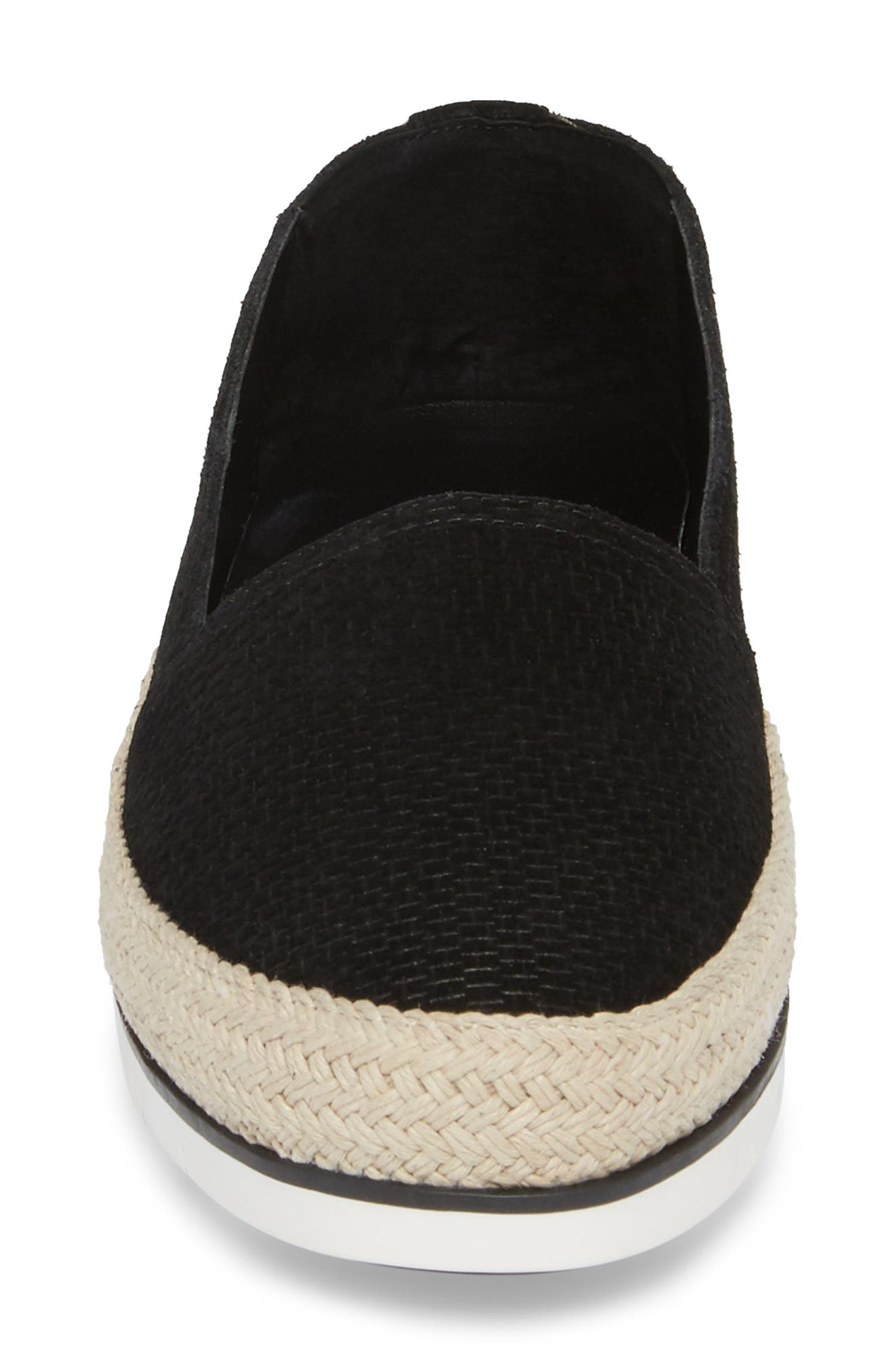 Palm Slip-On Sneaker,                             Alternate thumbnail 4, color,                             Black Suede
