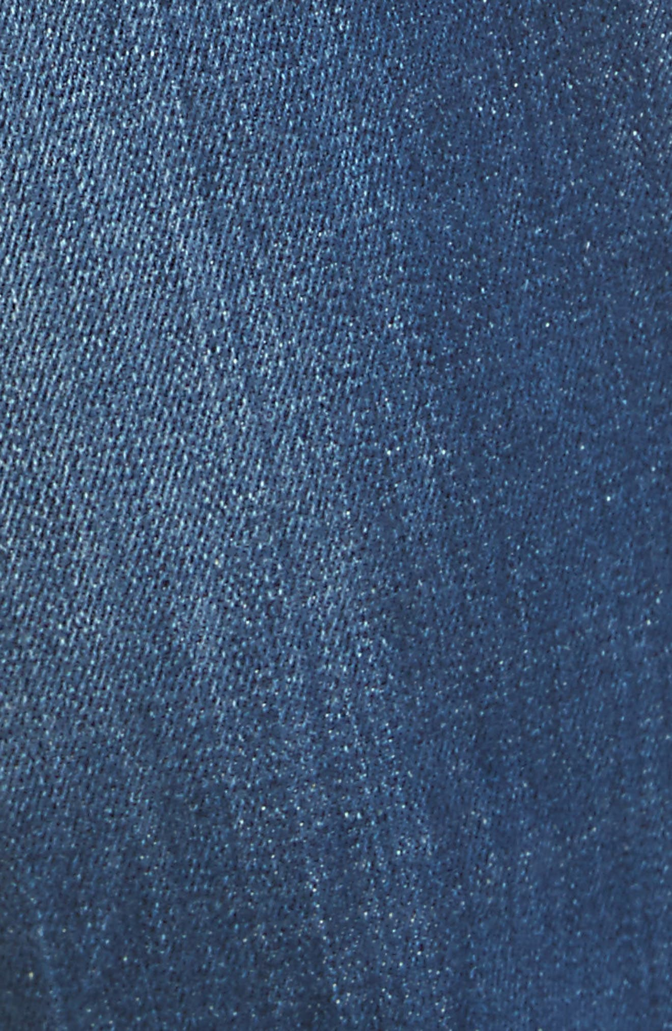 Slim Fit Medium Wash Jeans,                             Alternate thumbnail 5, color,                             Navy/Blue