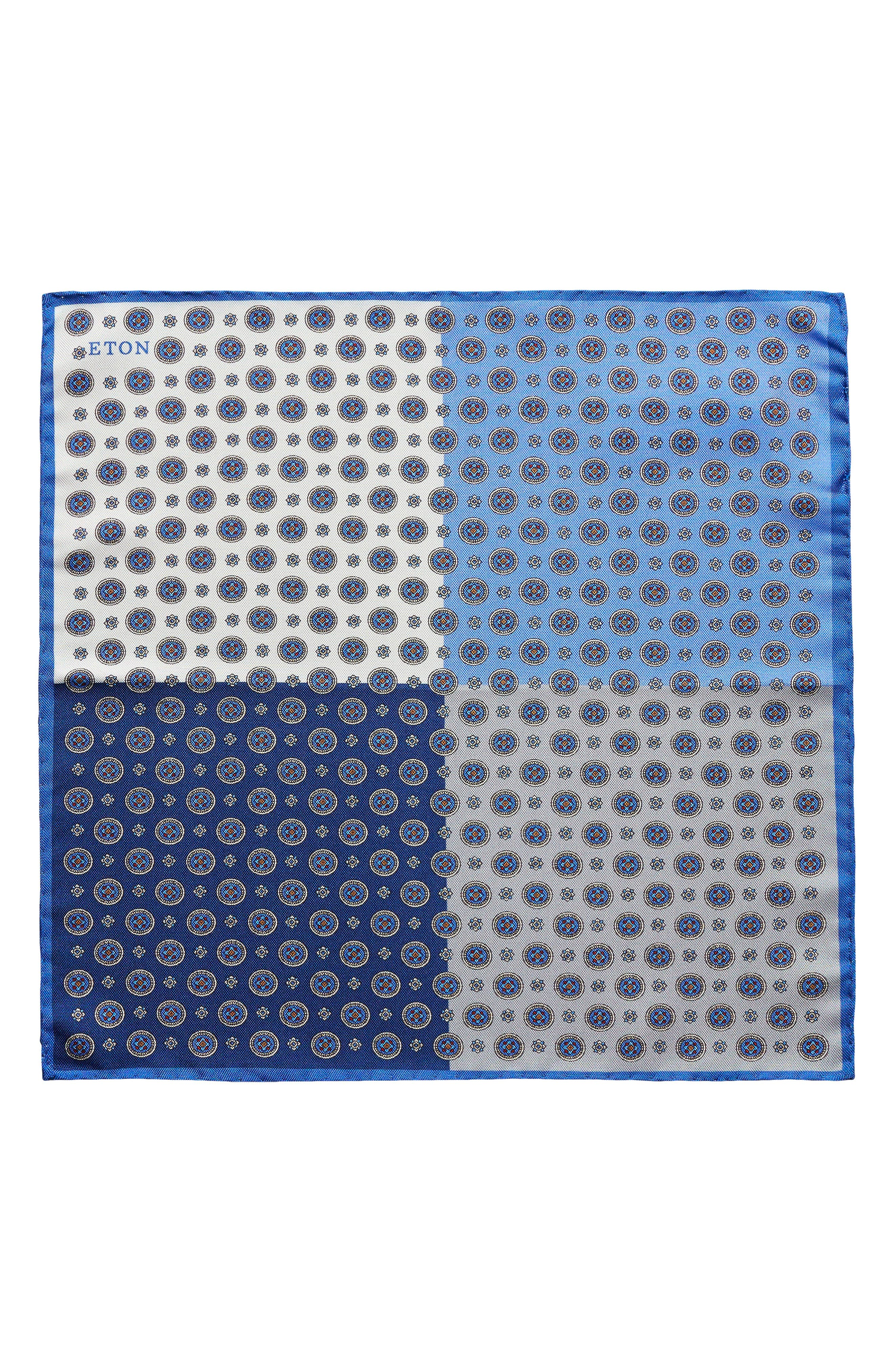 Four-in-One Silk Pocket Square,                             Alternate thumbnail 2, color,                             Blue