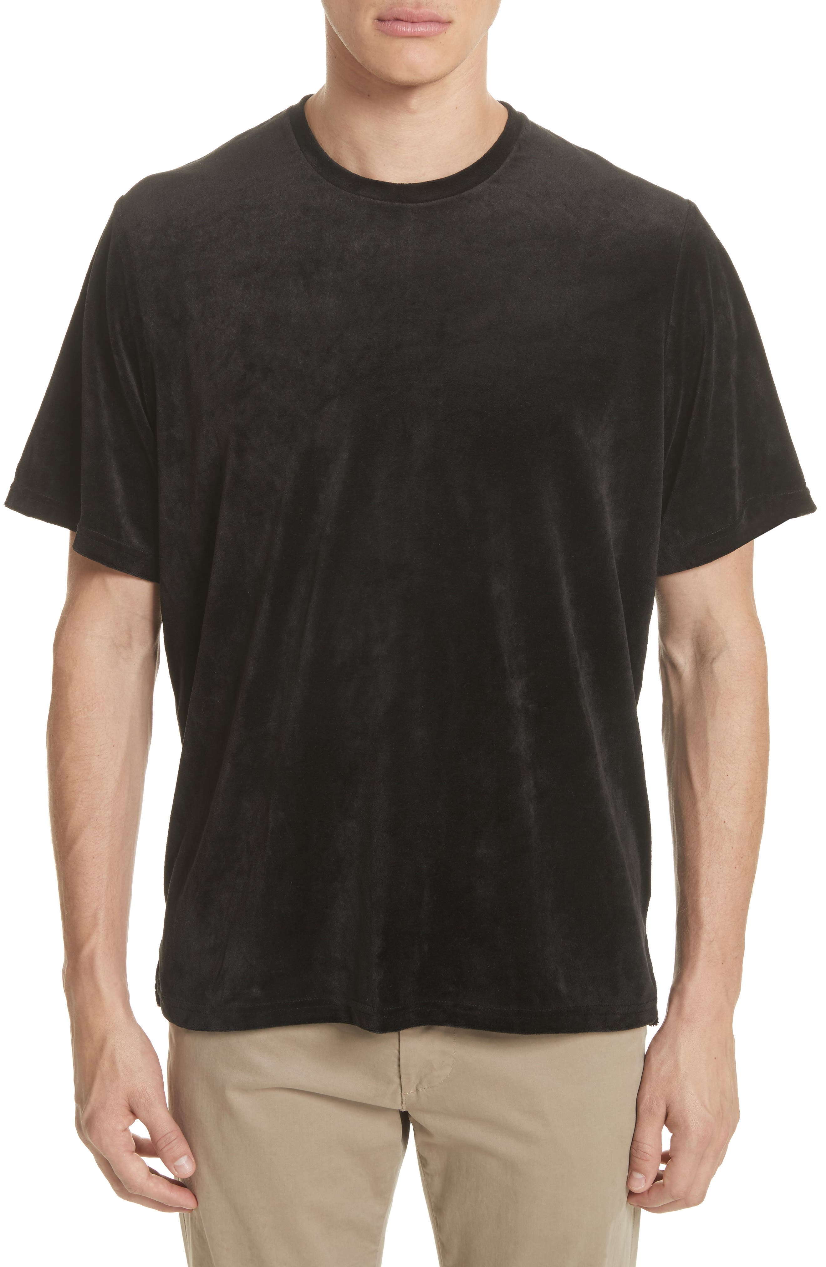 Velour T-Shirt,                             Main thumbnail 1, color,                             Black