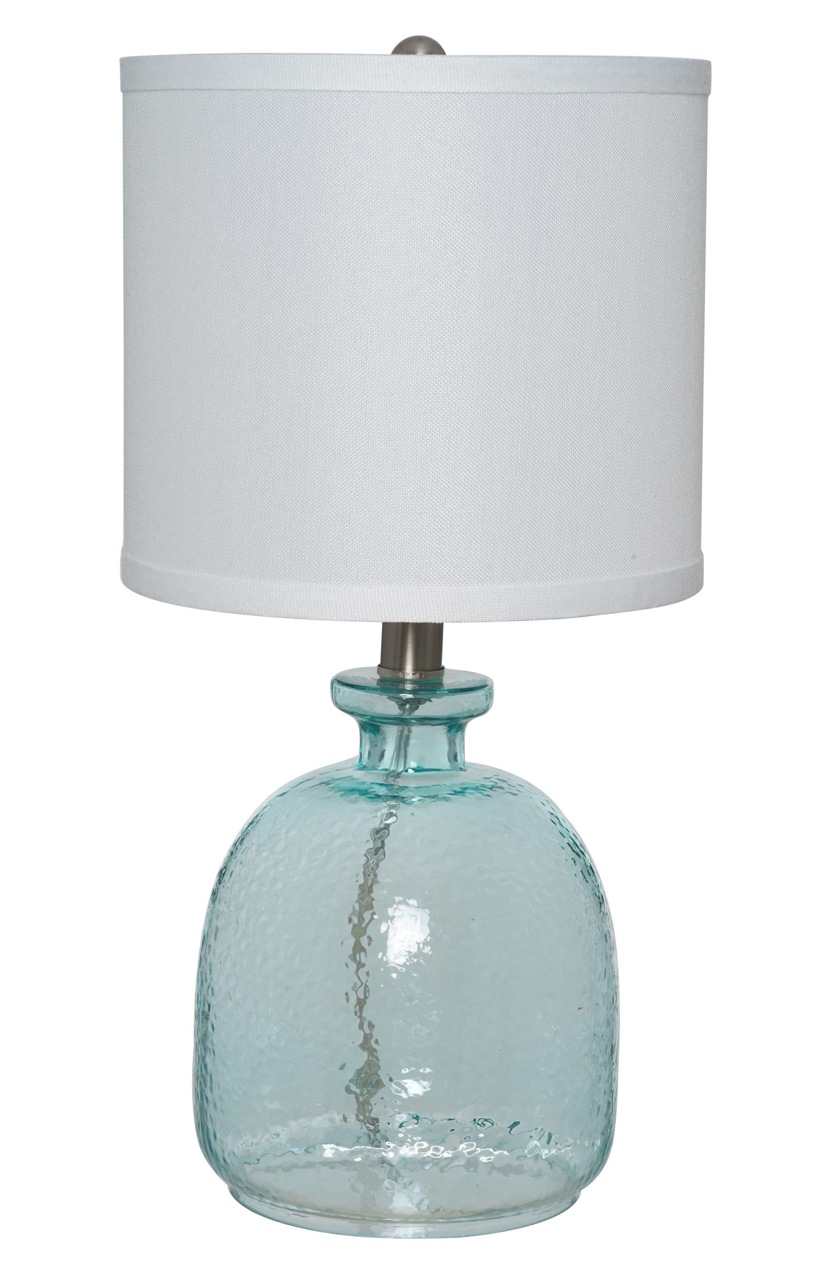Ocean Glass Accent Lamp,                         Main,                         color, Ocean Blue