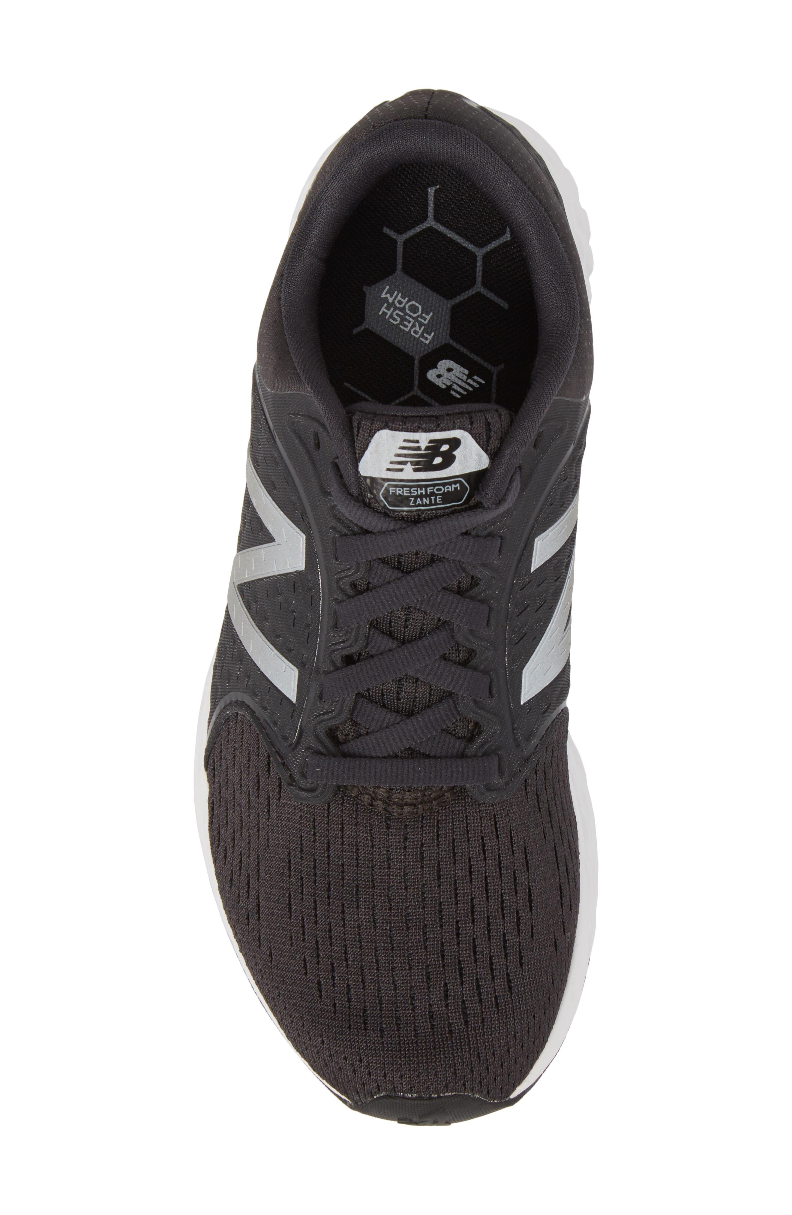 Fresh Foam Zante v4 Running Shoe,                             Alternate thumbnail 5, color,                             Black