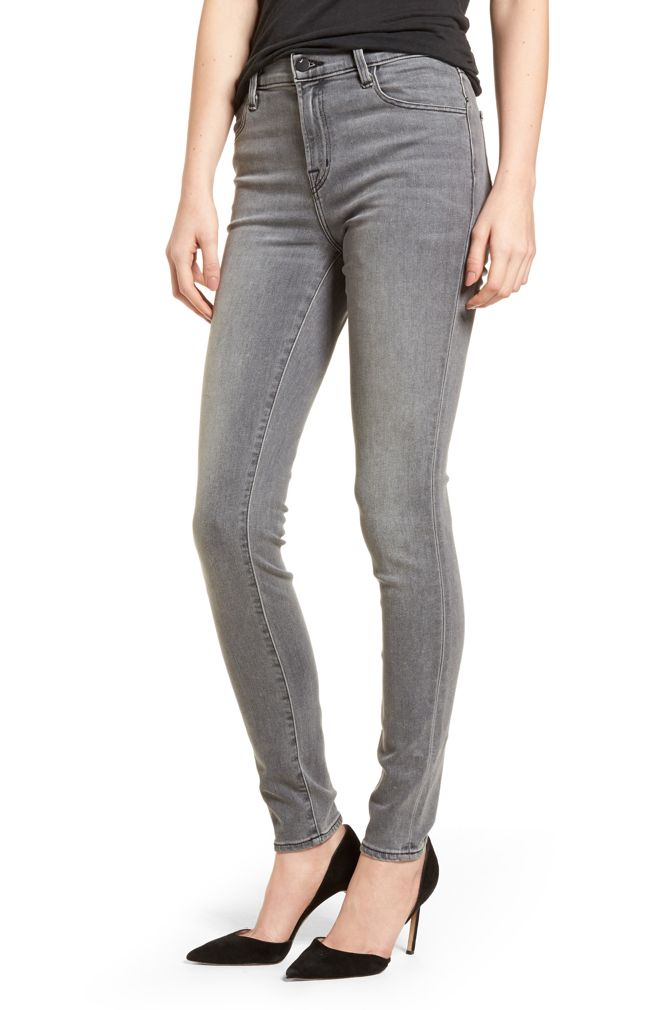 J Brand Maria High Waist Skinny Jeans (Pebble) (Nordstrom Exclusive)