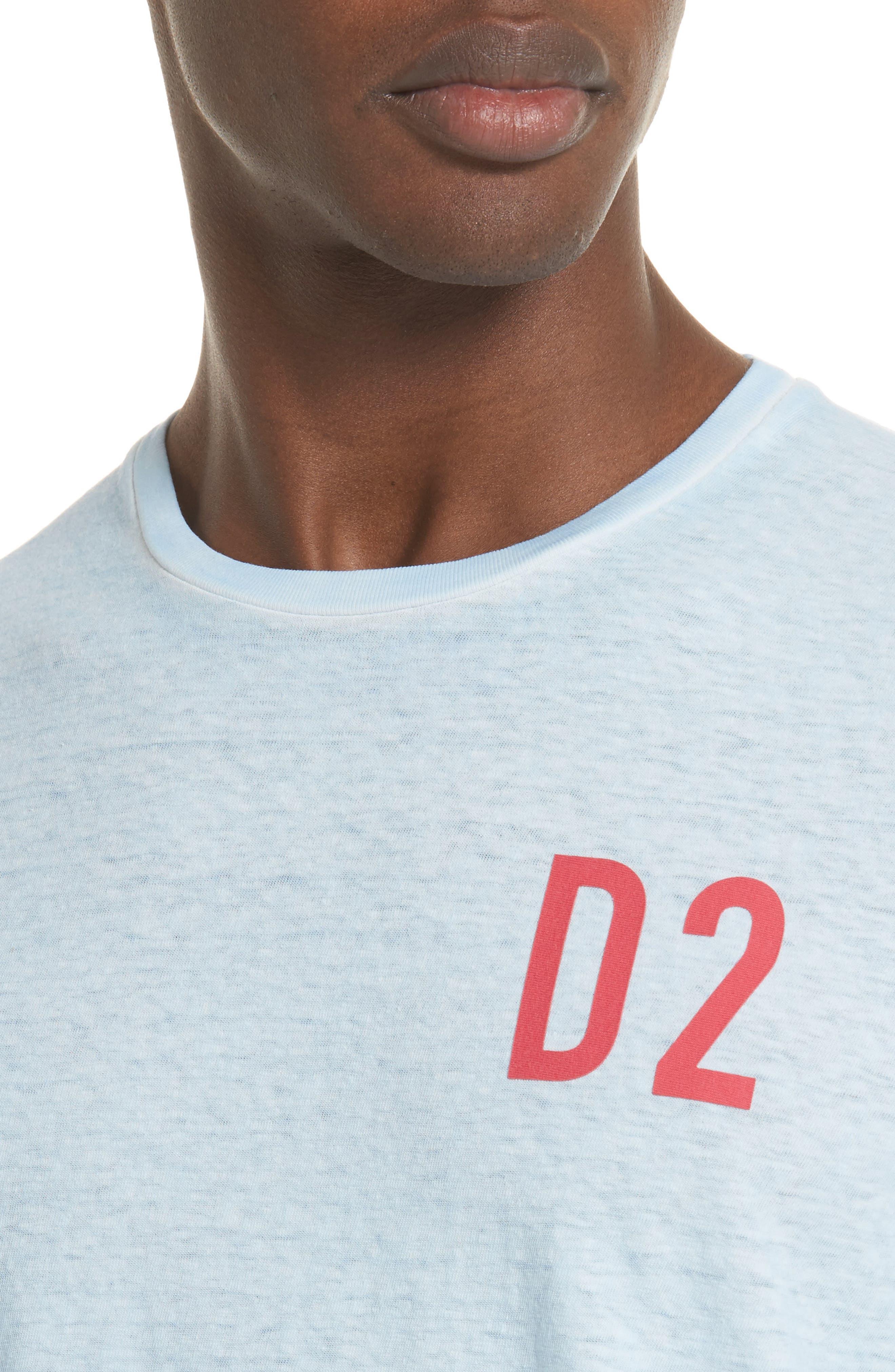 Alternate Image 4  - Dsquared2 D2 Logo Graphic T-Shirt