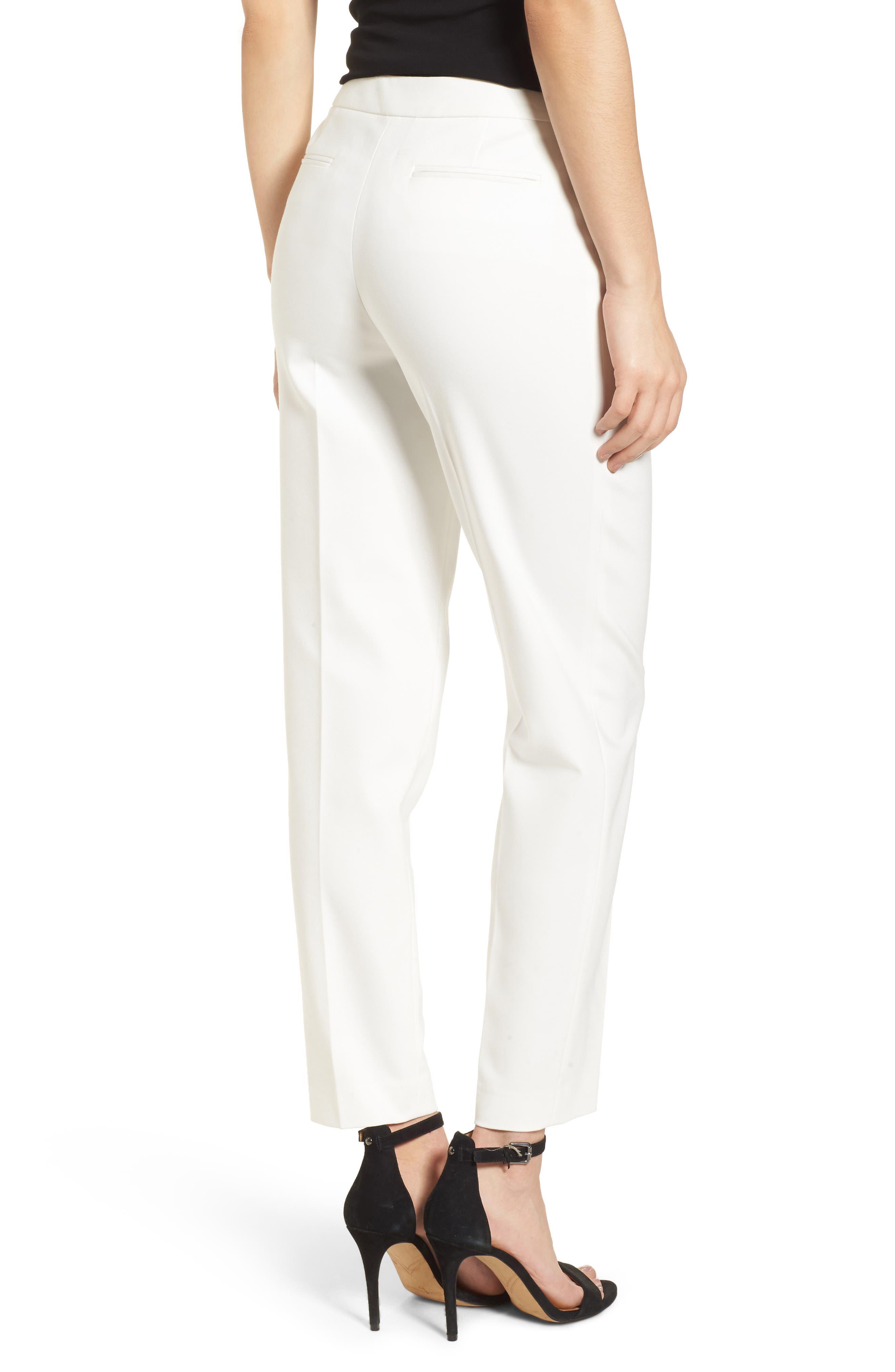 Bowie Cotton Blend Suit Pants,                             Alternate thumbnail 2, color,                             White