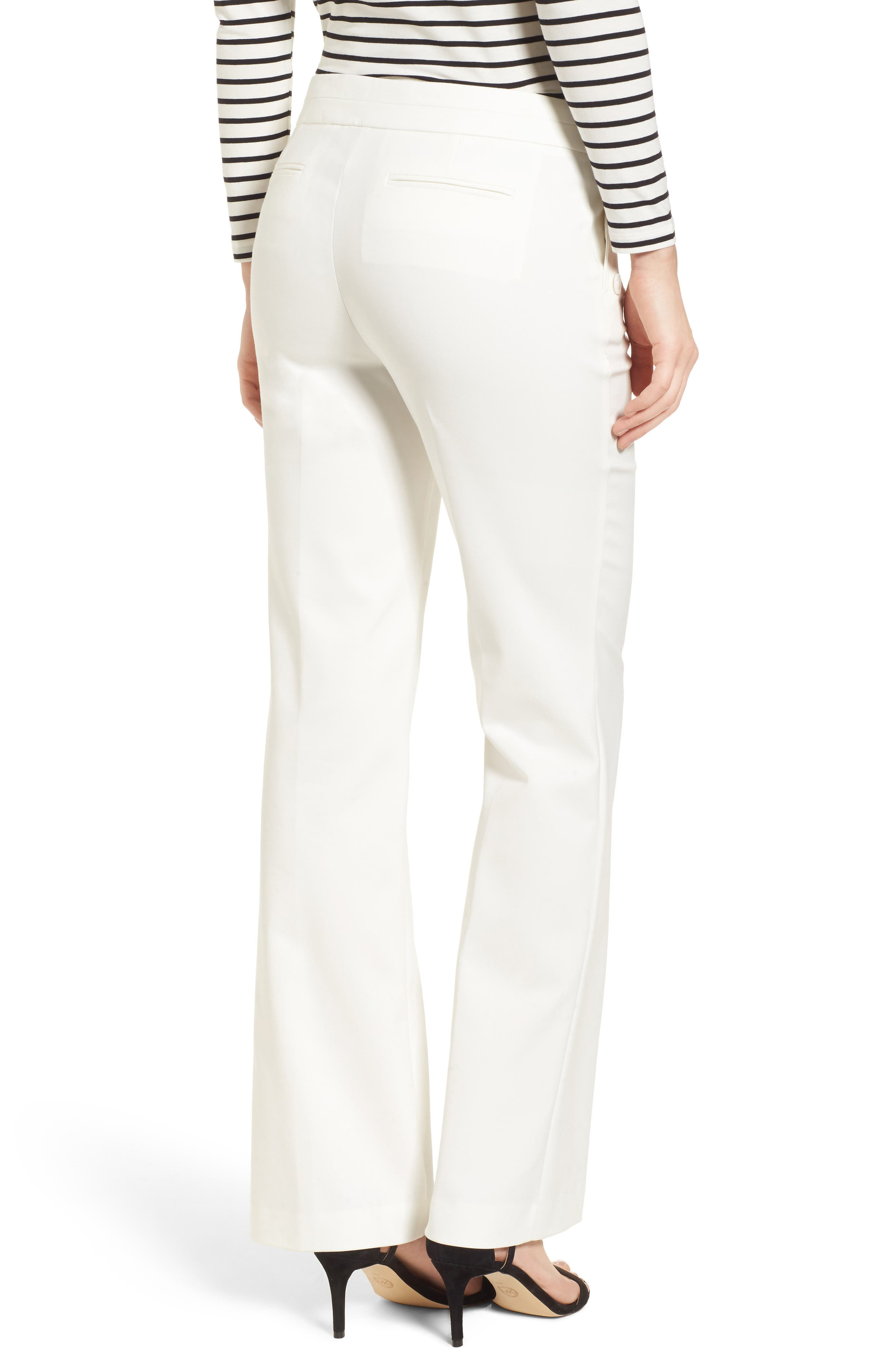 Flare Leg Sailor Pants,                             Alternate thumbnail 2, color,                             White