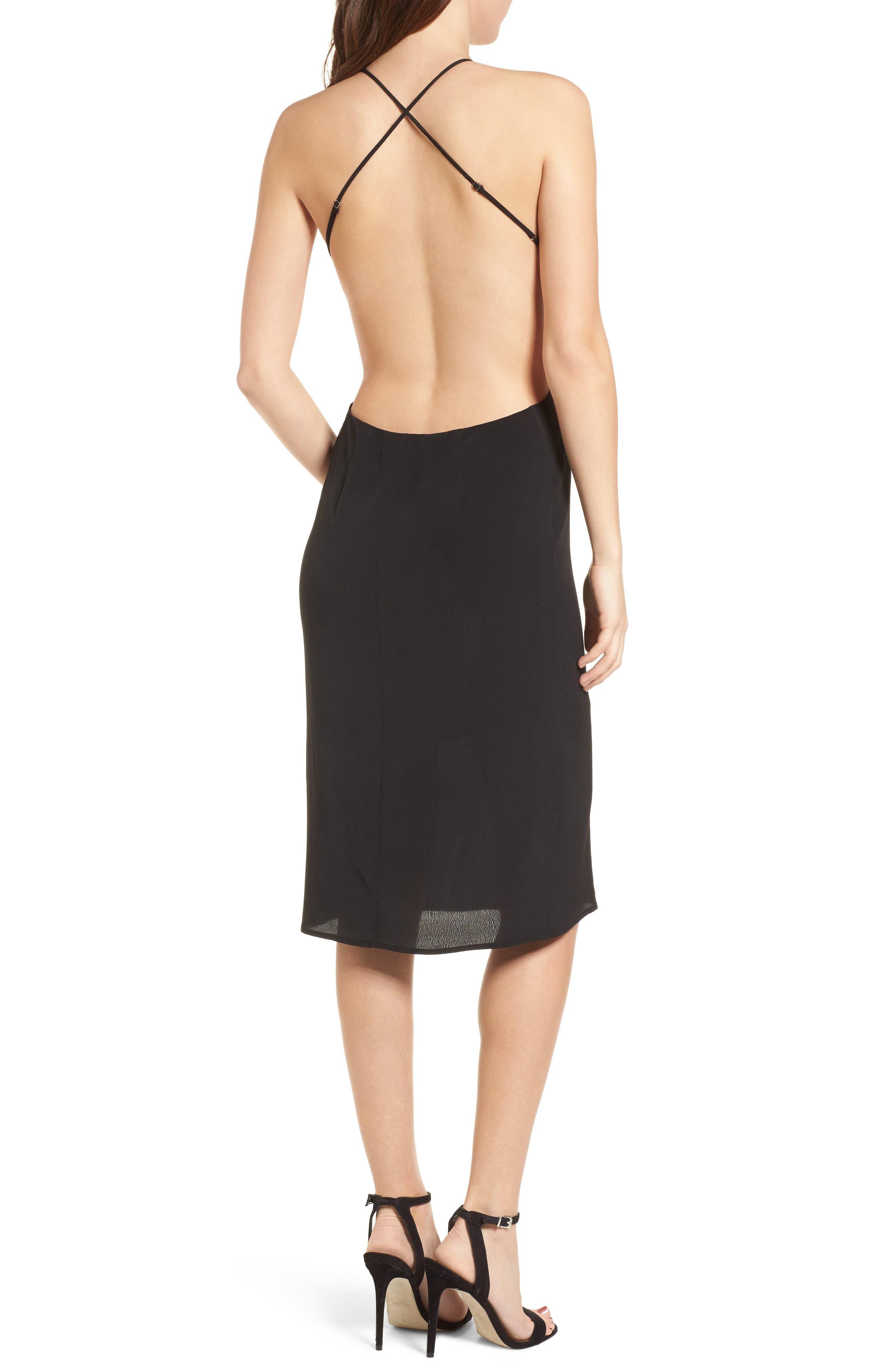 Backless Sheath Dress,                             Alternate thumbnail 2, color,                             Black