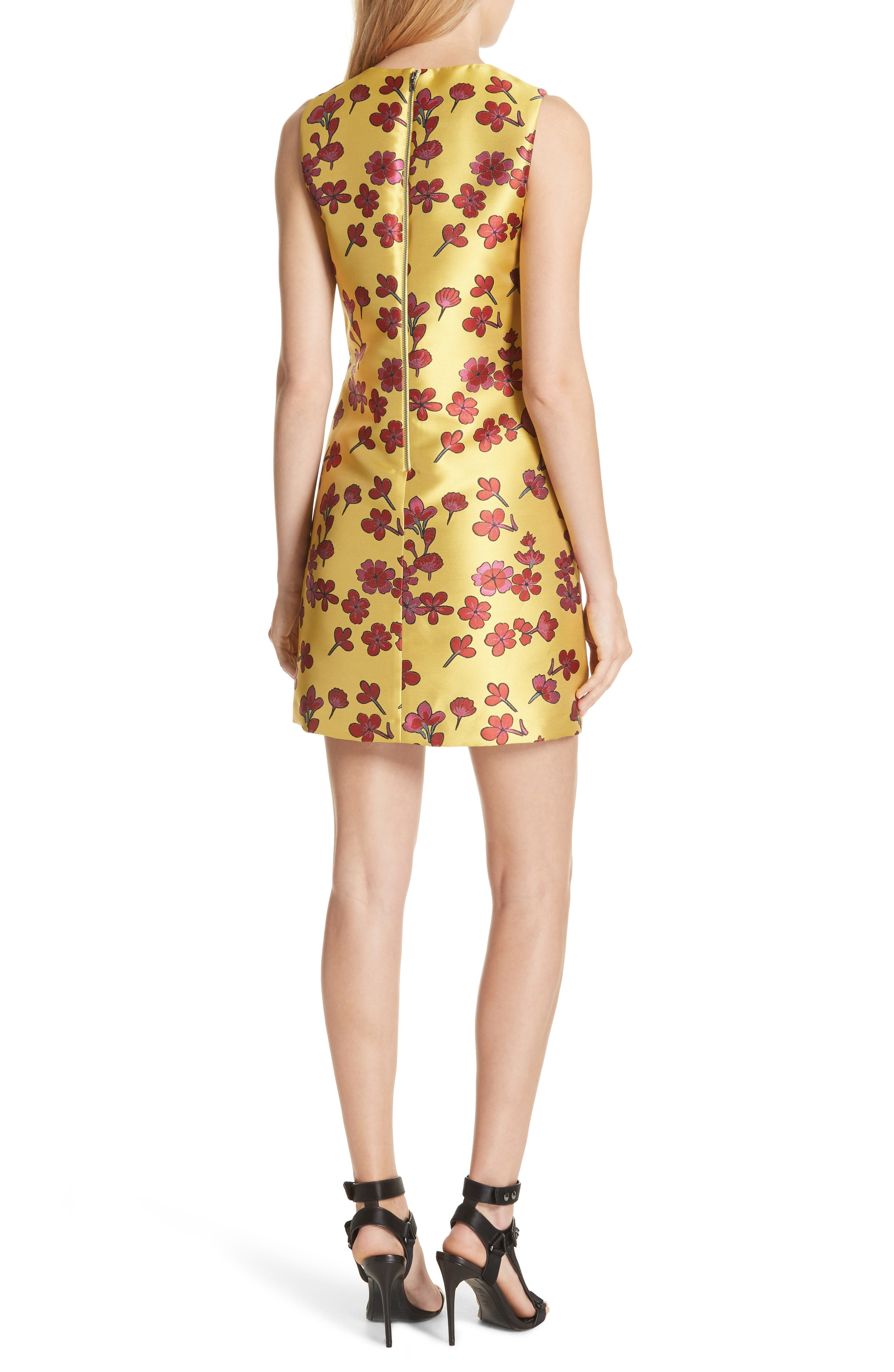 Coley Floral A-Line Shift Dress,                             Alternate thumbnail 2, color,                             Sunflower/ Poppy
