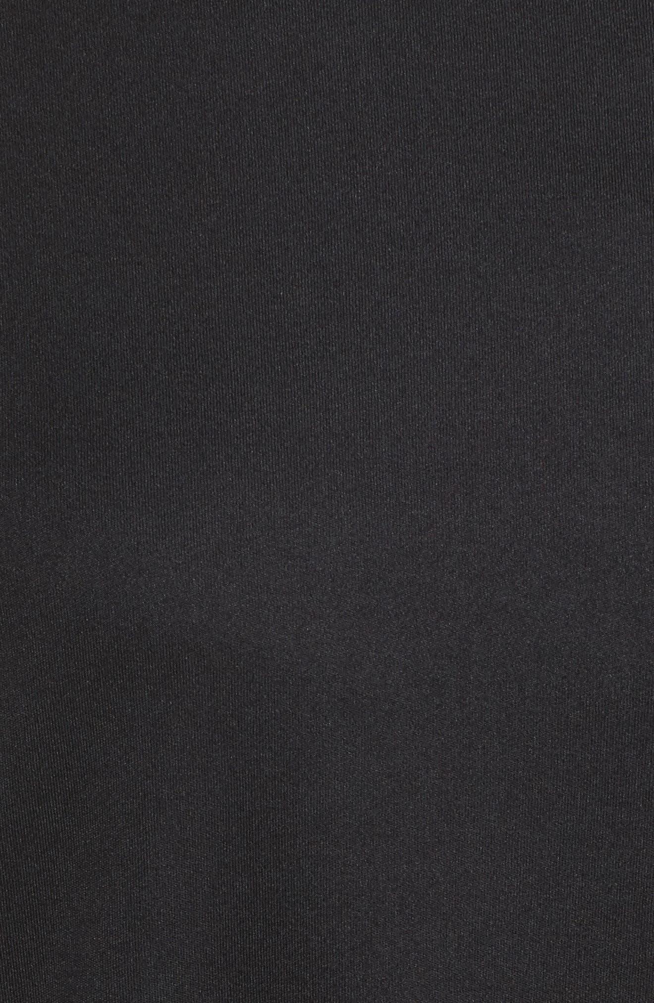 Miler Dry Long Sleeve Tee,                             Alternate thumbnail 6, color,                             Black