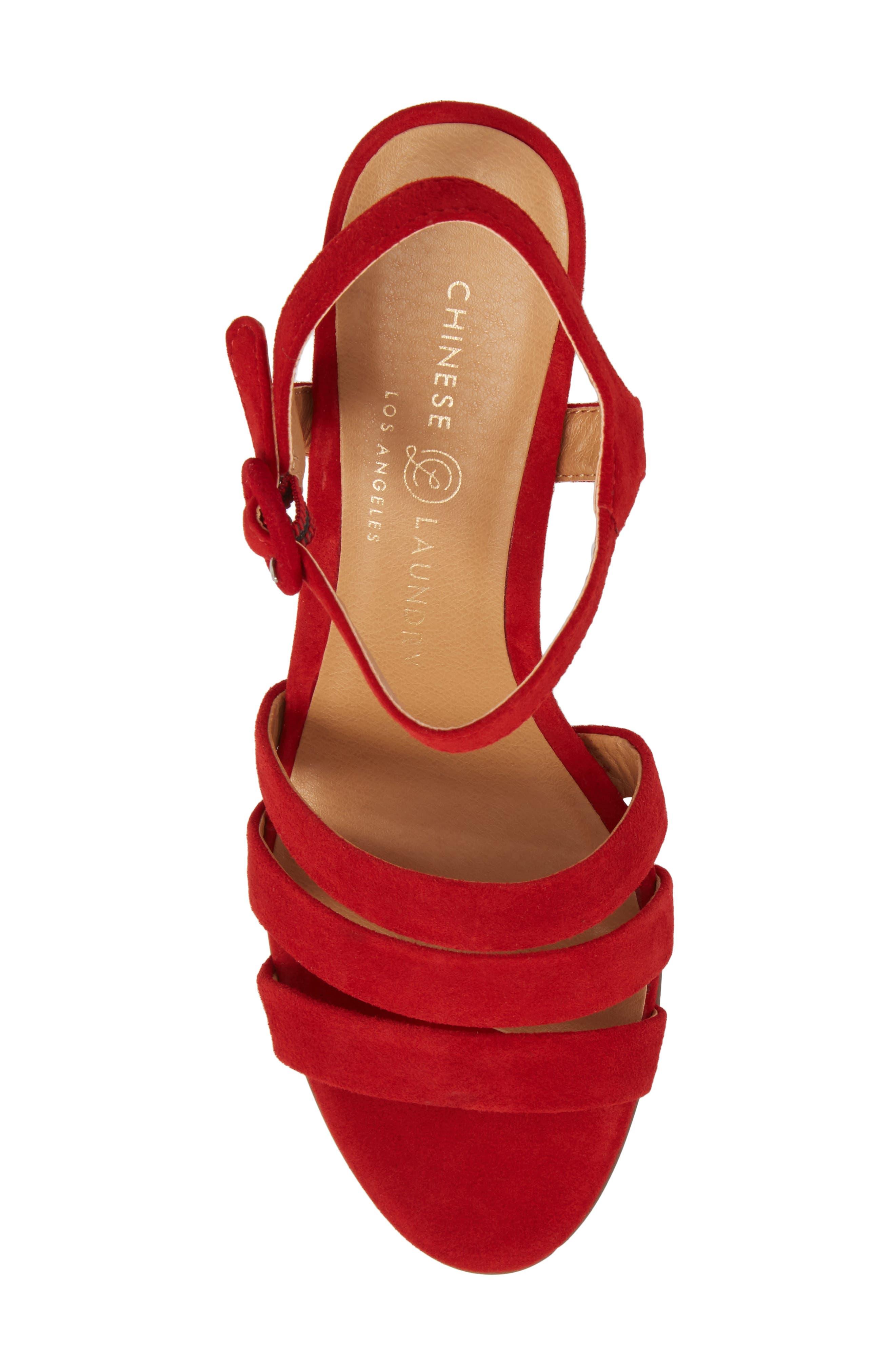 Ryden Strappy Sandal,                             Alternate thumbnail 5, color,                             Red