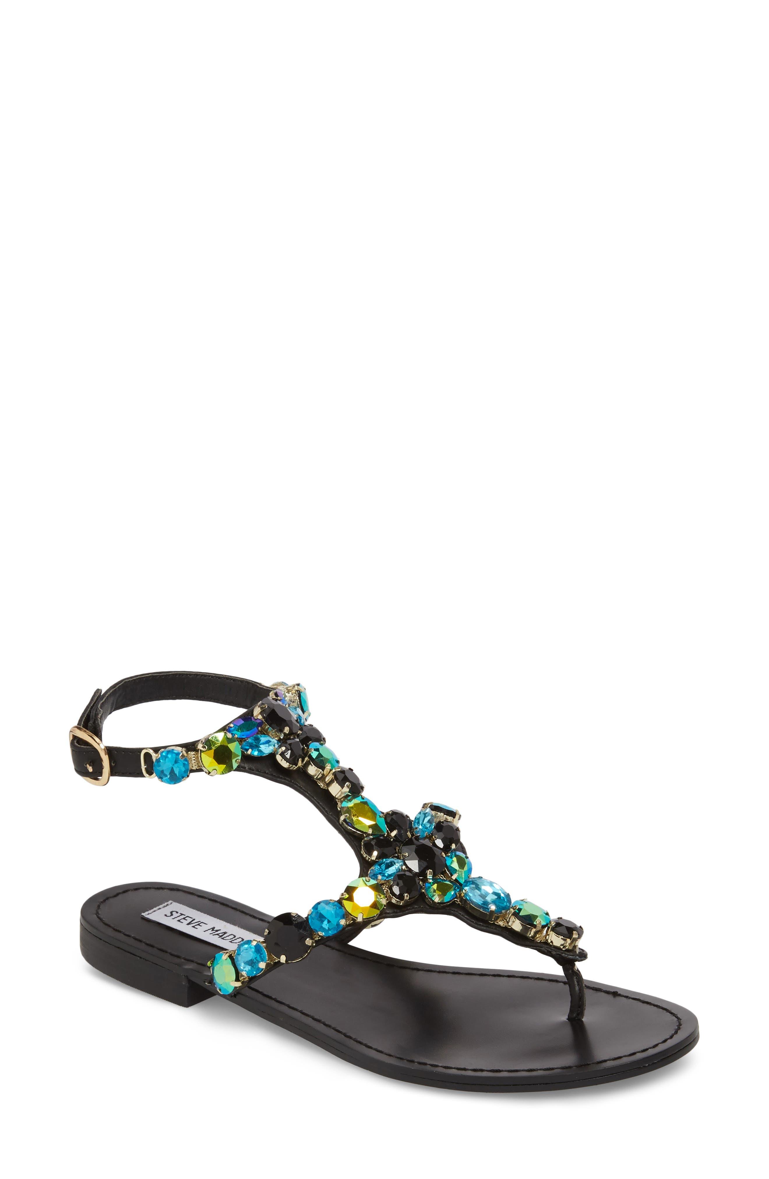Steve Madden Women's Chantel Crystal Embellished Sandal 9N4uttq
