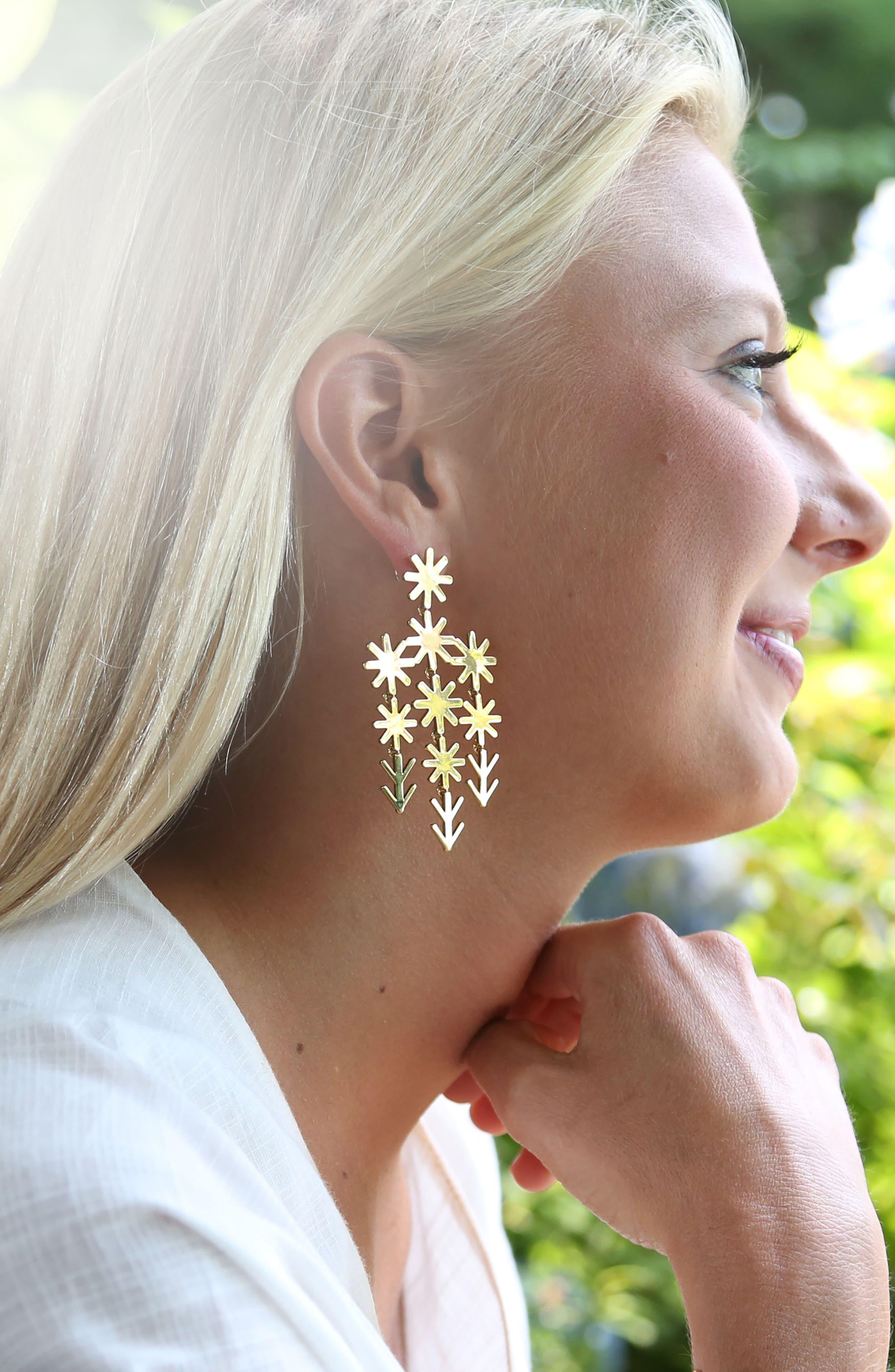 Alternate Image 2  - ASHA Uma Chandelier Earrings