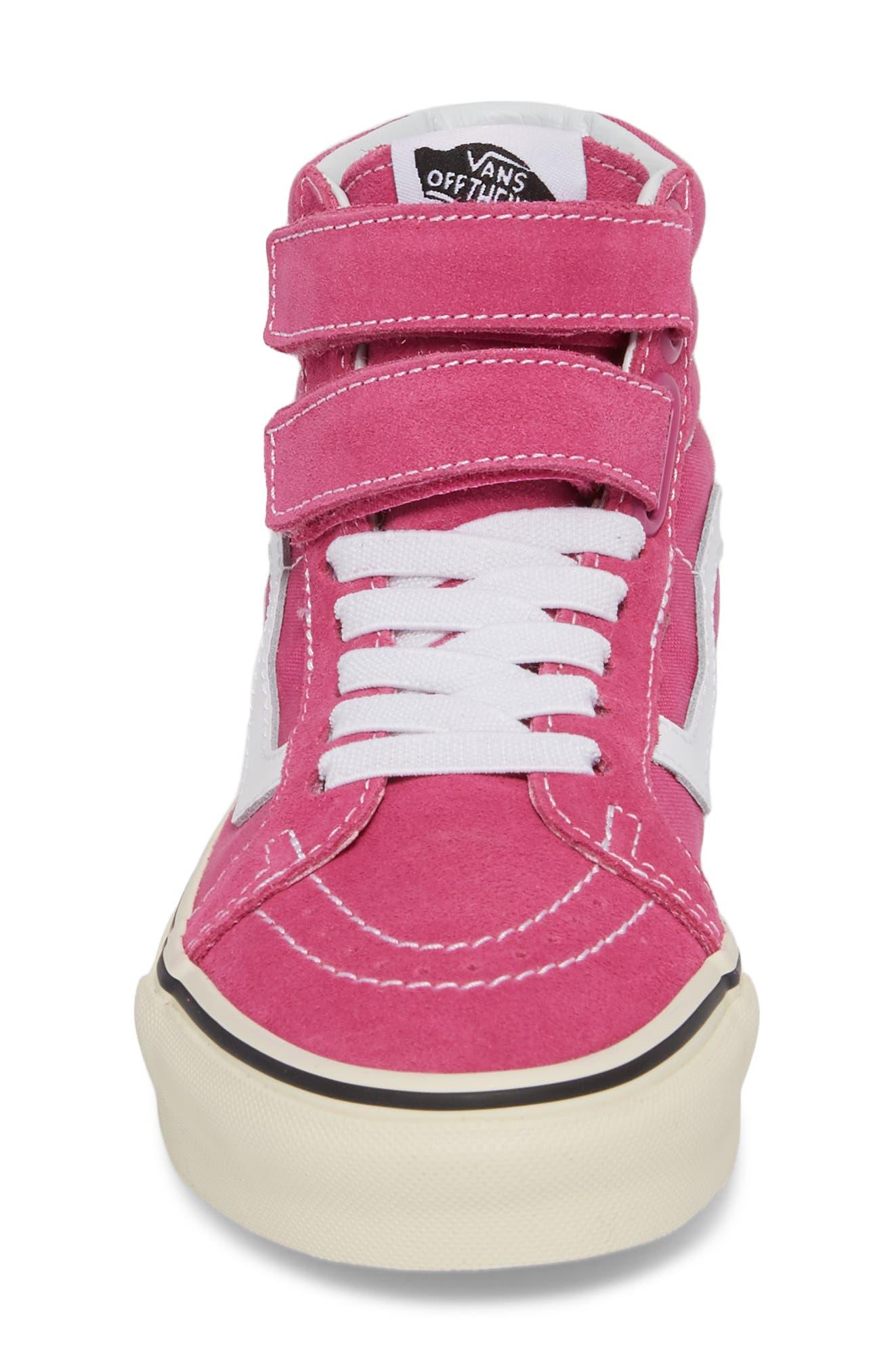 Sk8-Hi Reissue Sneaker,                             Alternate thumbnail 4, color,                             Raspberry Rose/ Turtledove