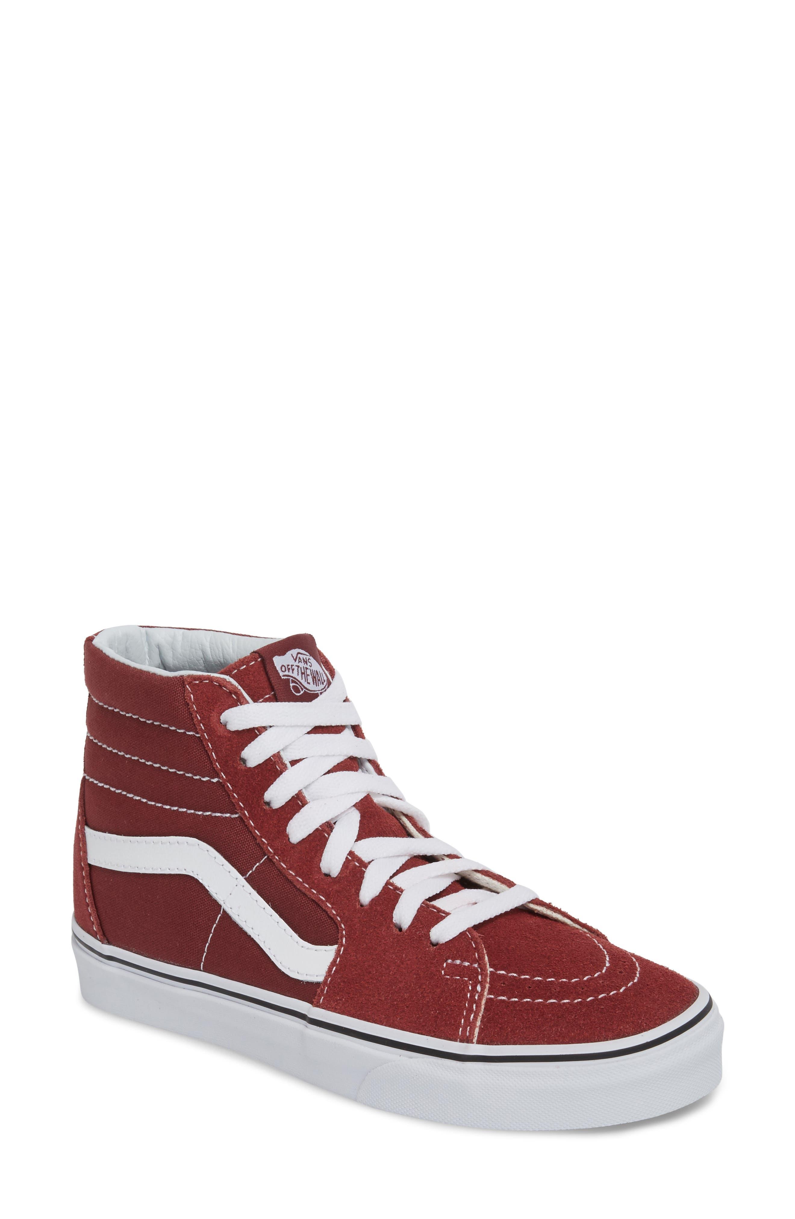 'Sk8-Hi Slim' Sneaker,                             Main thumbnail 1, color,                             Apple Butter/ True White