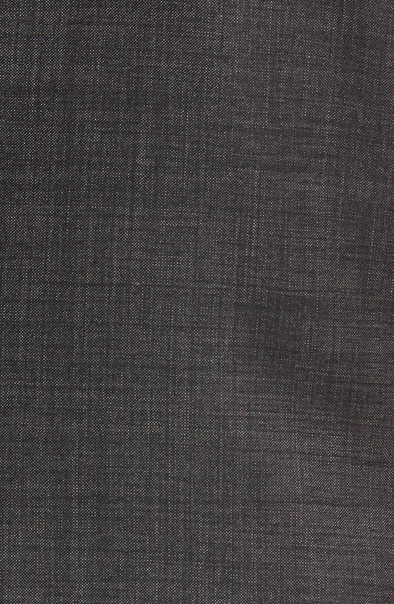 Novan/Ben Trim Fit Solid Wool Suit,                             Alternate thumbnail 7, color,                             Black
