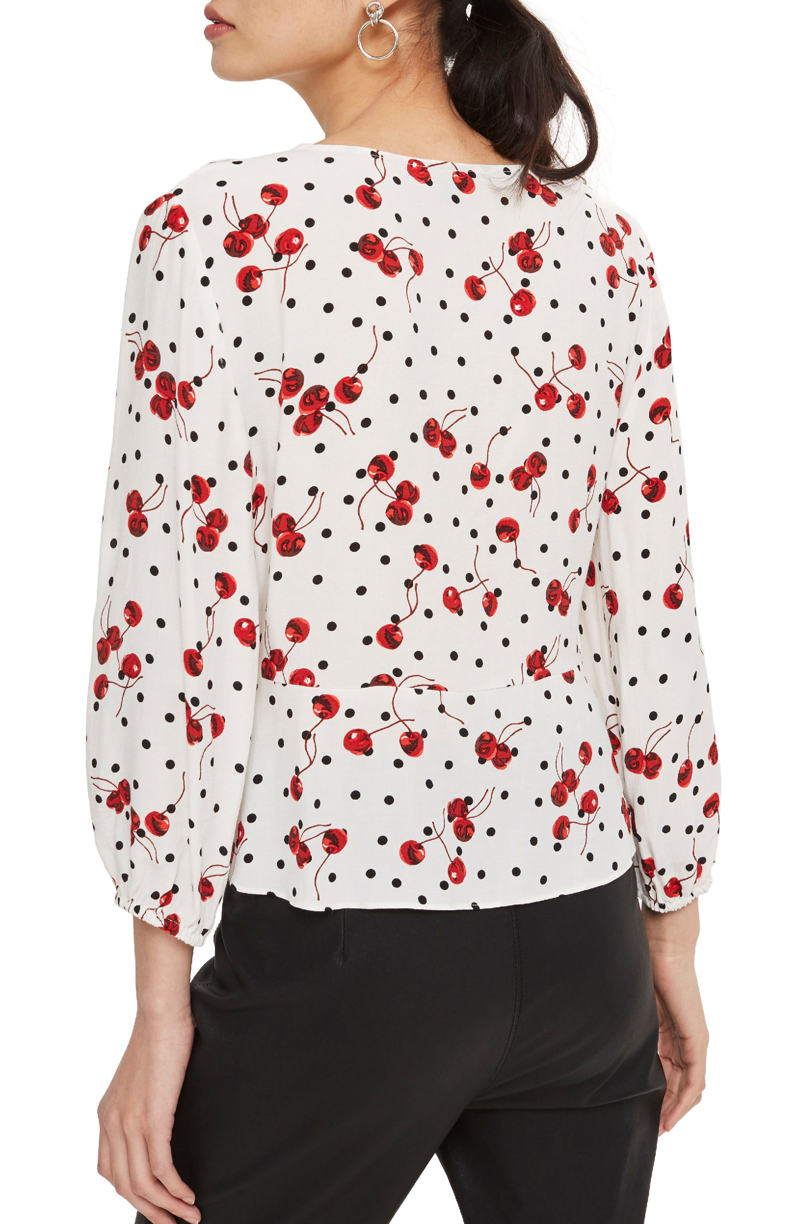 Alternate Image 3  - Topshop Cherry Spot Print Blouse