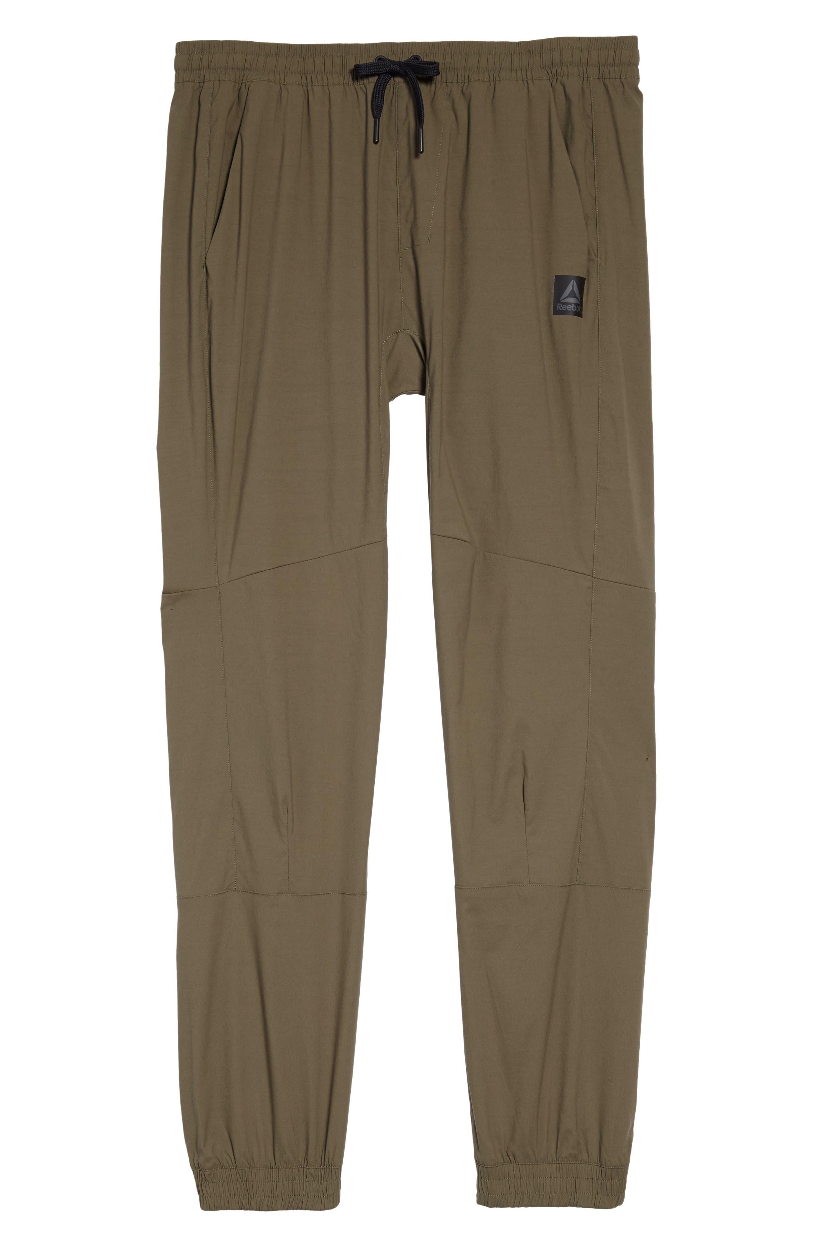 Woven Jogger Pants,                             Alternate thumbnail 6, color,                             Army Green