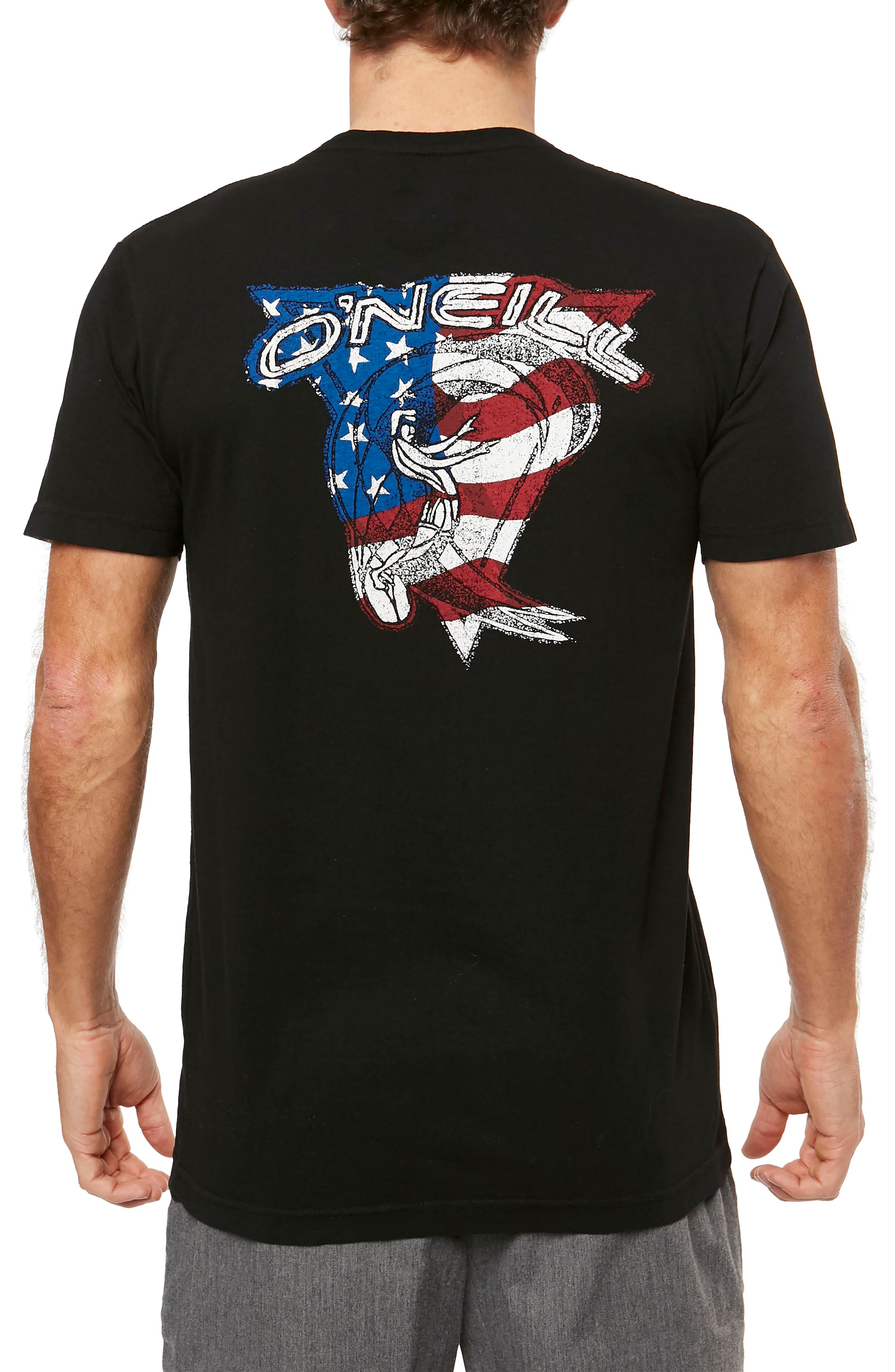 Flagship Graphic T-Shirt,                             Alternate thumbnail 2, color,                             Black