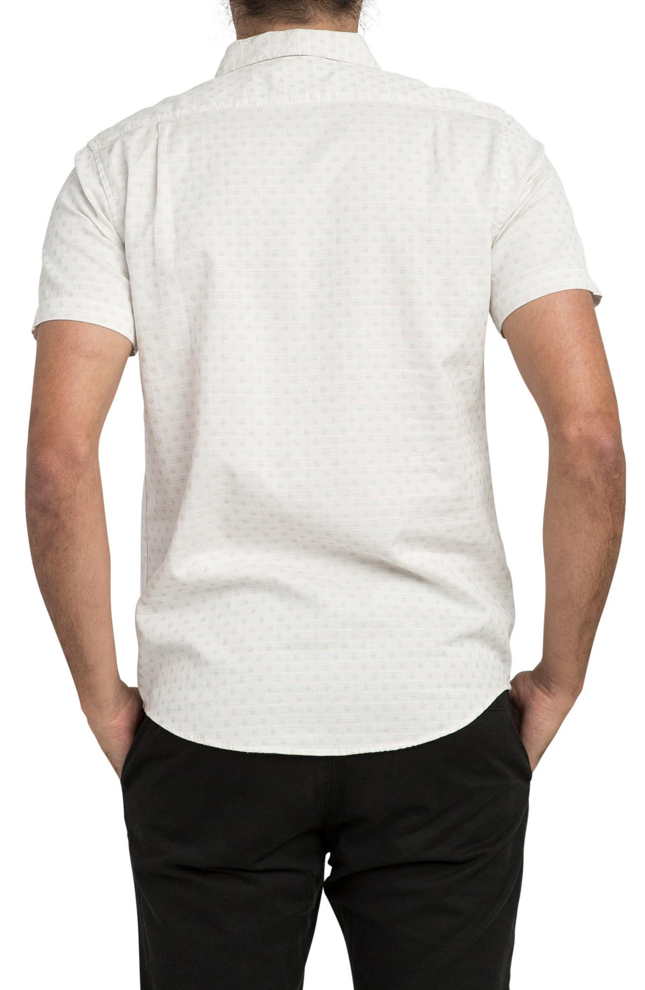 E Dot Woven Shirt,                             Alternate thumbnail 2, color,                             Antique White
