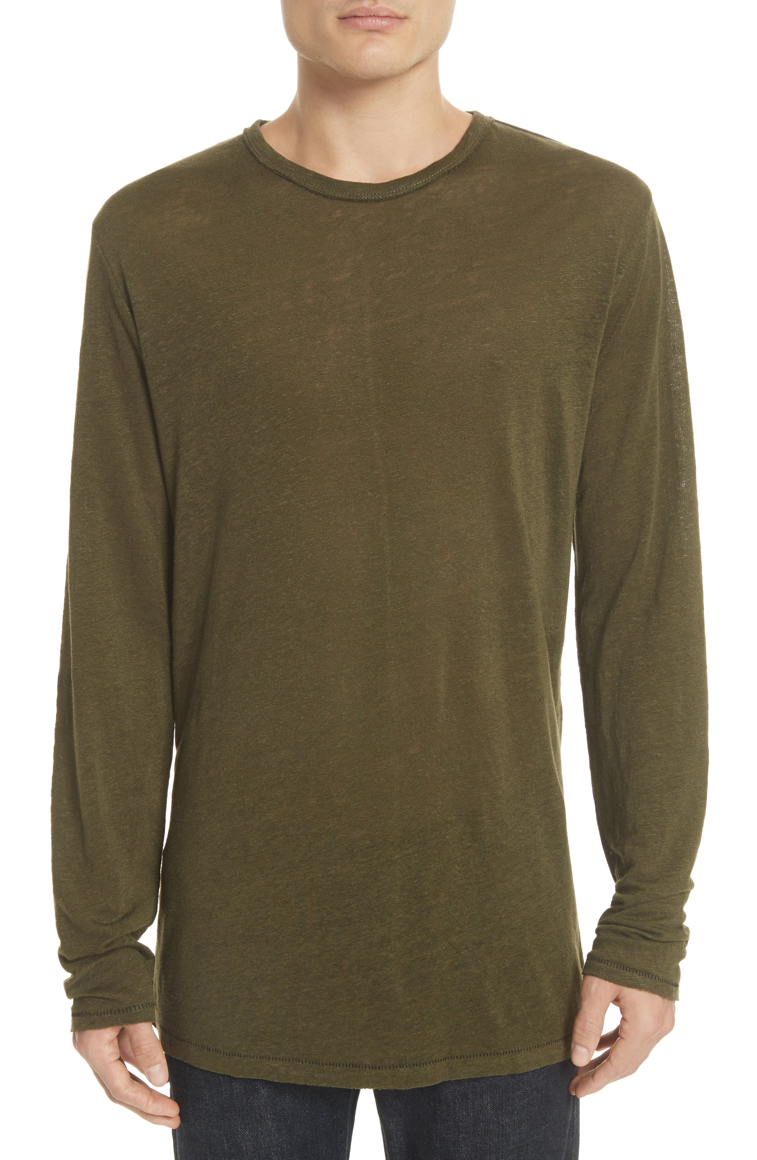 Owen Long Sleeve T-Shirt,                         Main,                         color, Army