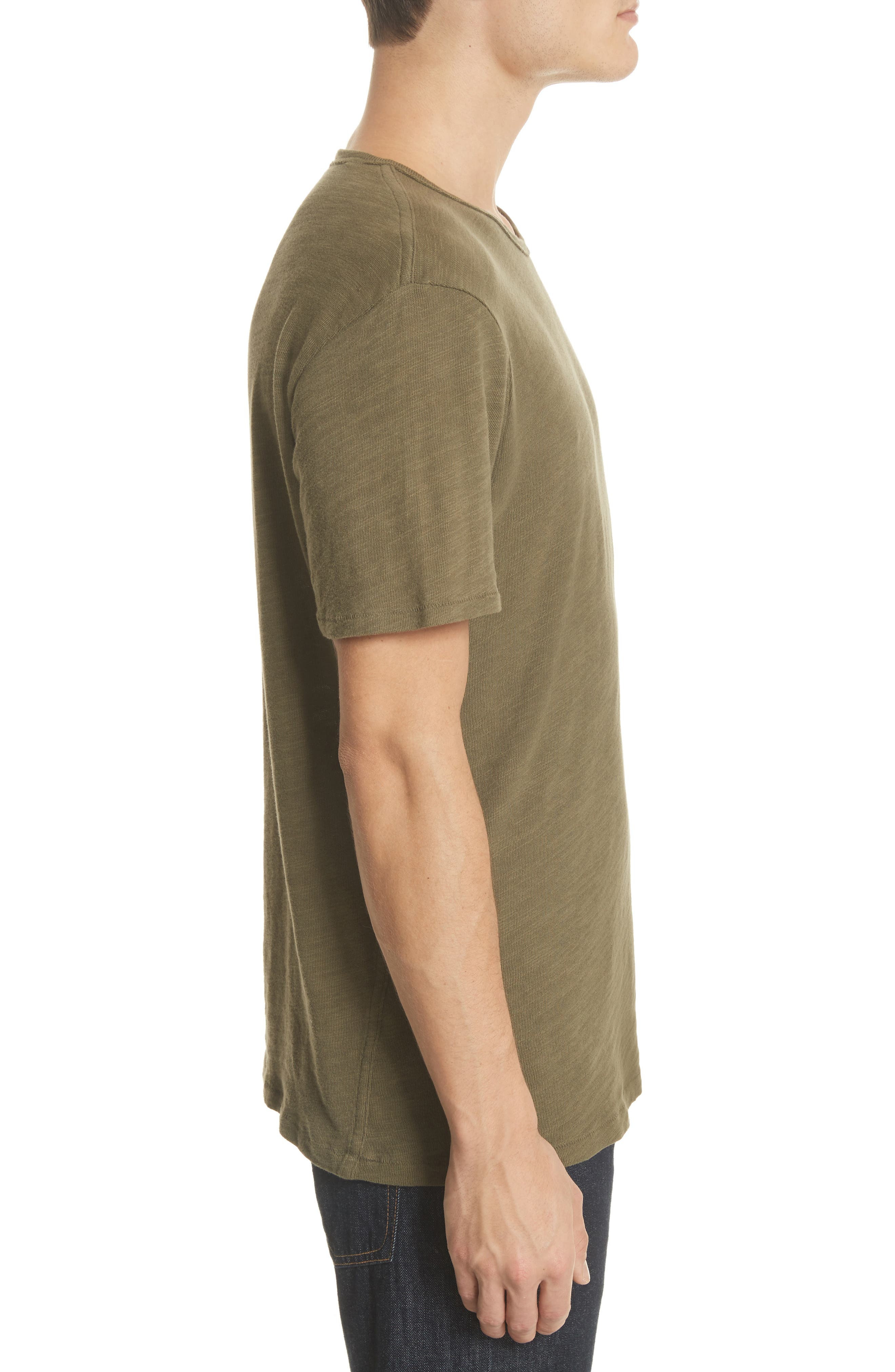 Standard Issue Slubbed Cotton T-Shirt,                             Alternate thumbnail 3, color,                             Army