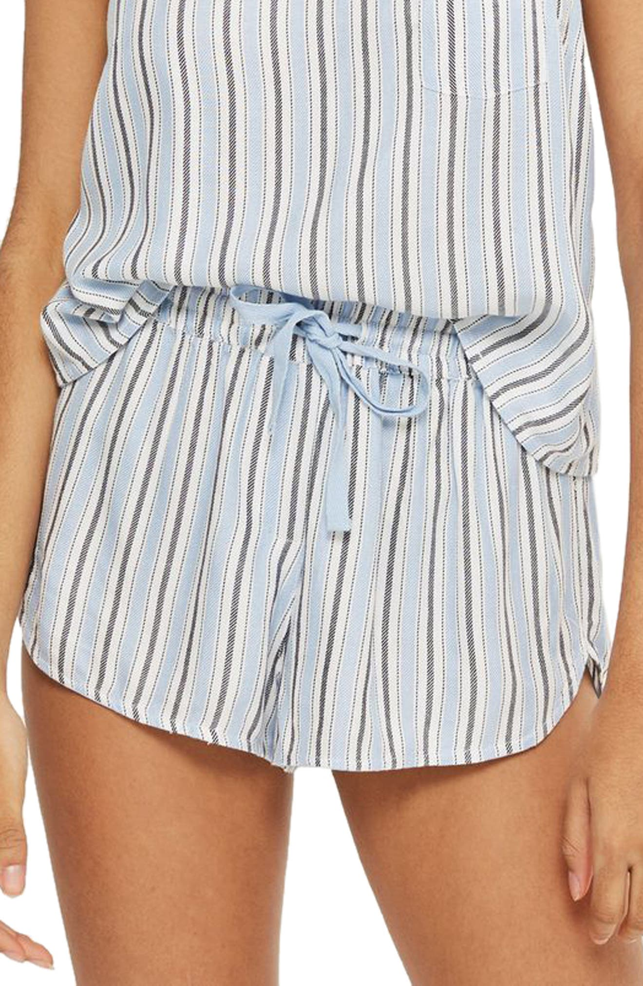 Topshop Bobby Brushed Stripe Pajama Shorts