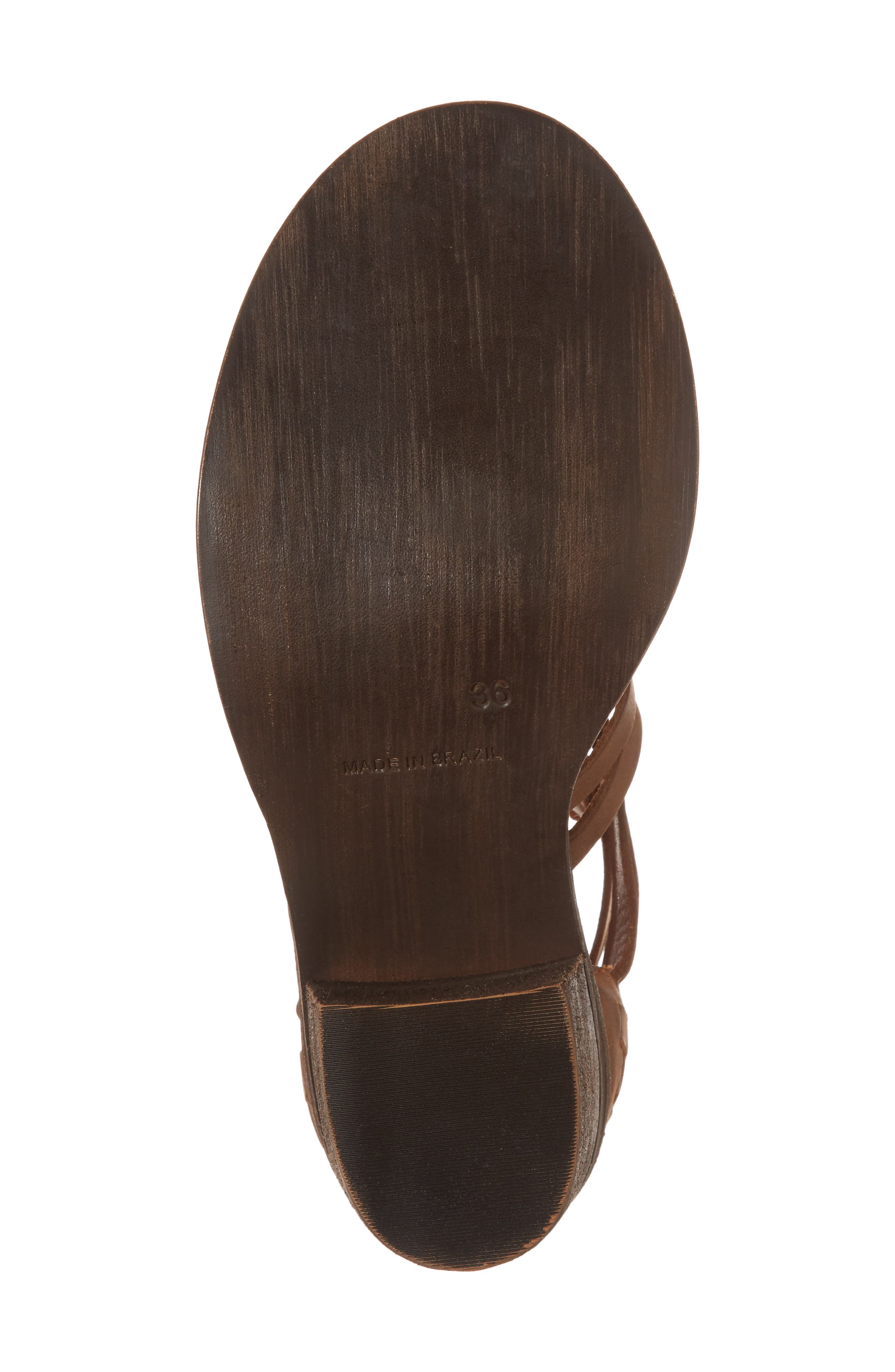 Felice Sandal,                             Alternate thumbnail 6, color,                             Brown Leather