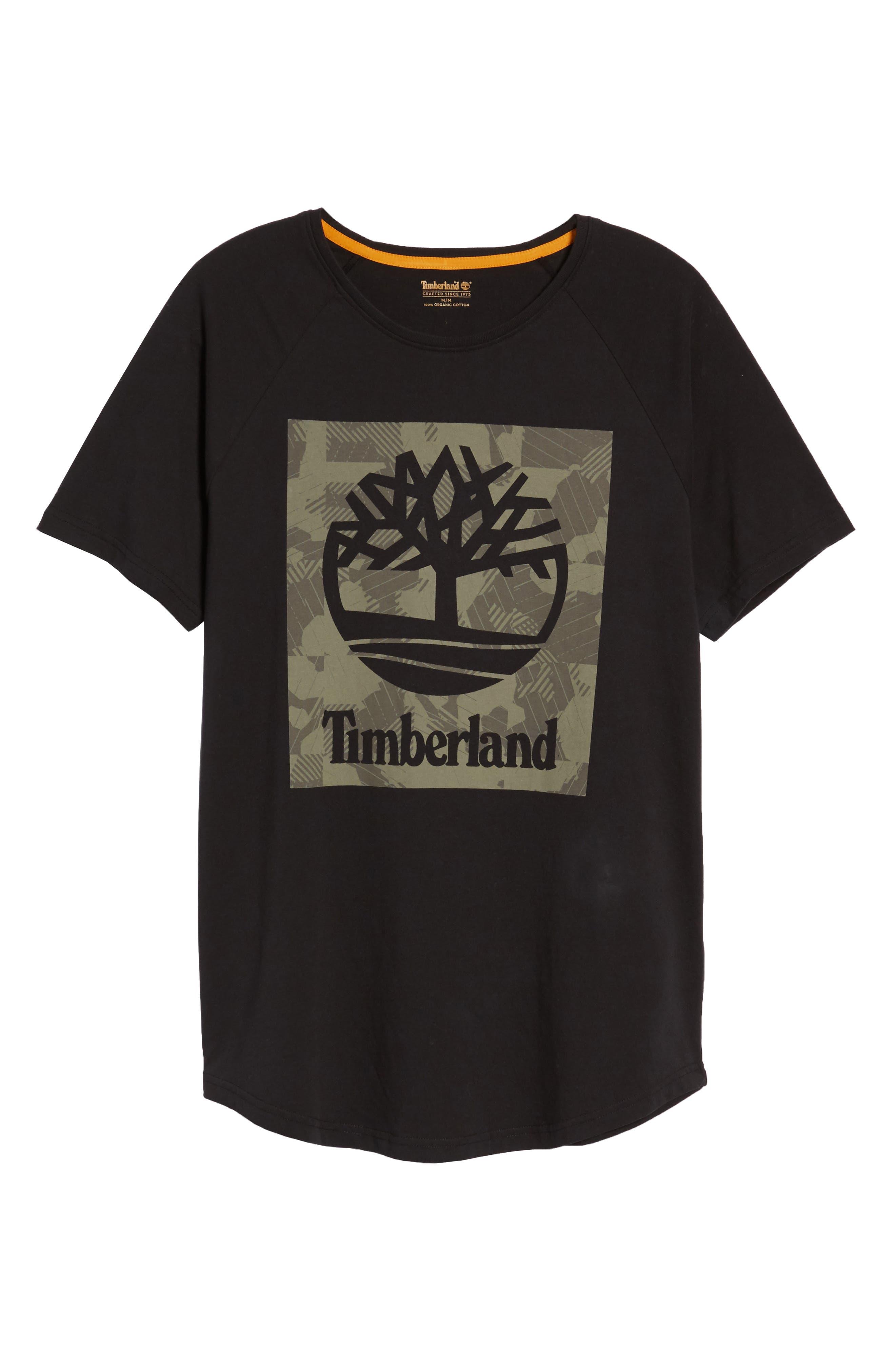 Camo Logo T-Shirt,                             Alternate thumbnail 6, color,                             Black
