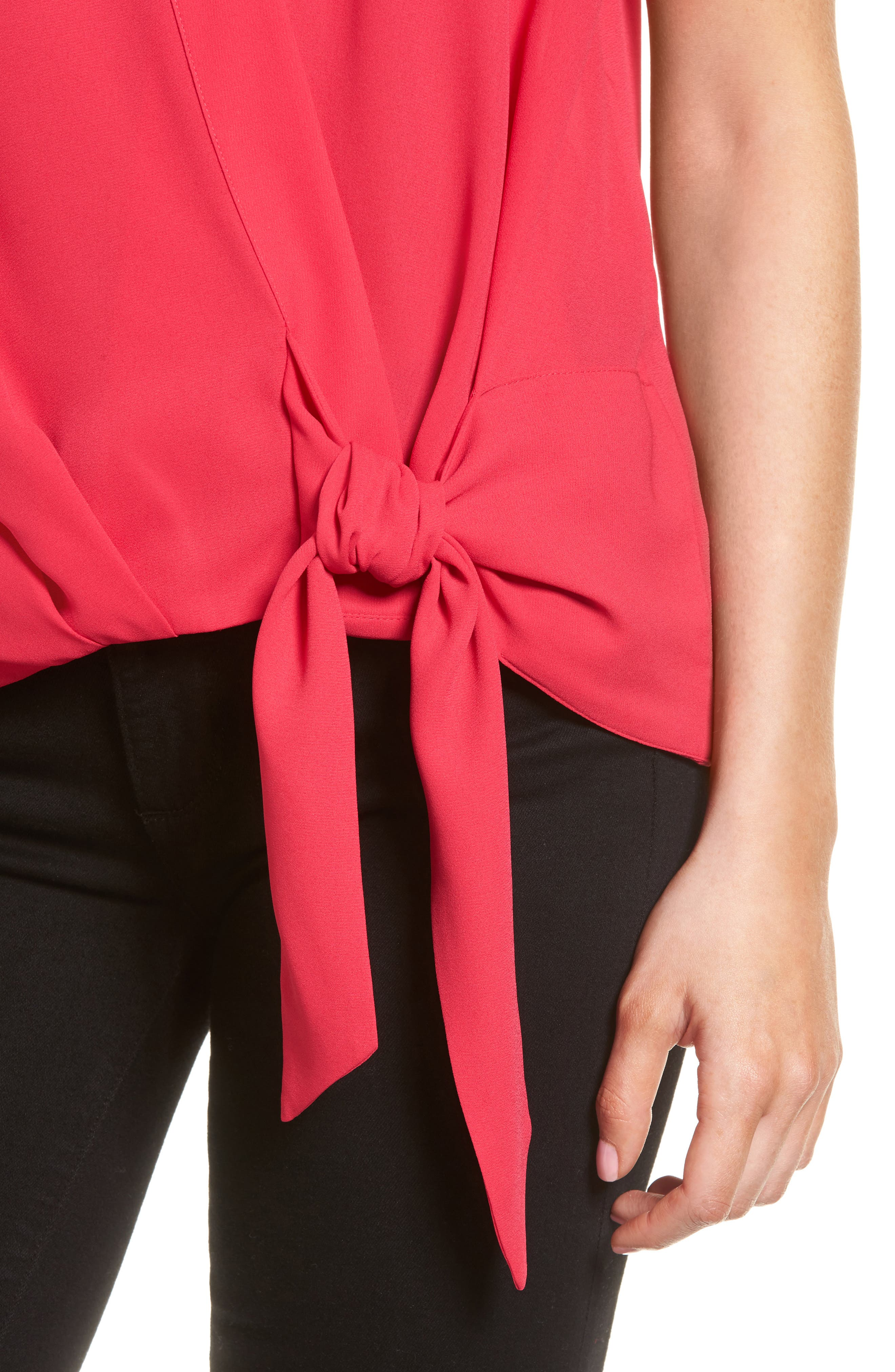 Wrap Top,                             Alternate thumbnail 4, color,                             Pink Bright
