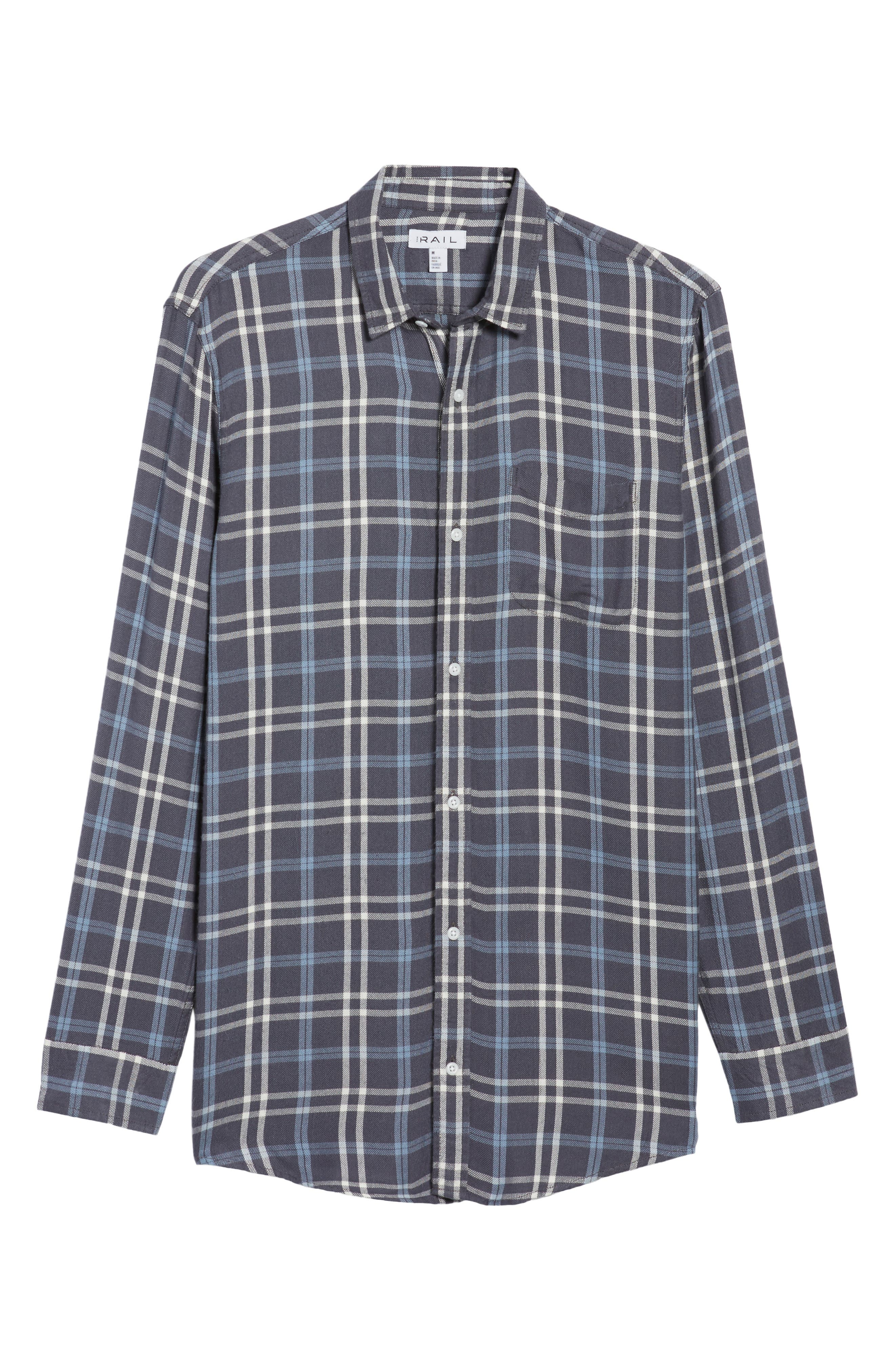 Yarn Dyed Plaid Shirt,                             Alternate thumbnail 6, color,                             Blue Grisaille Plaid