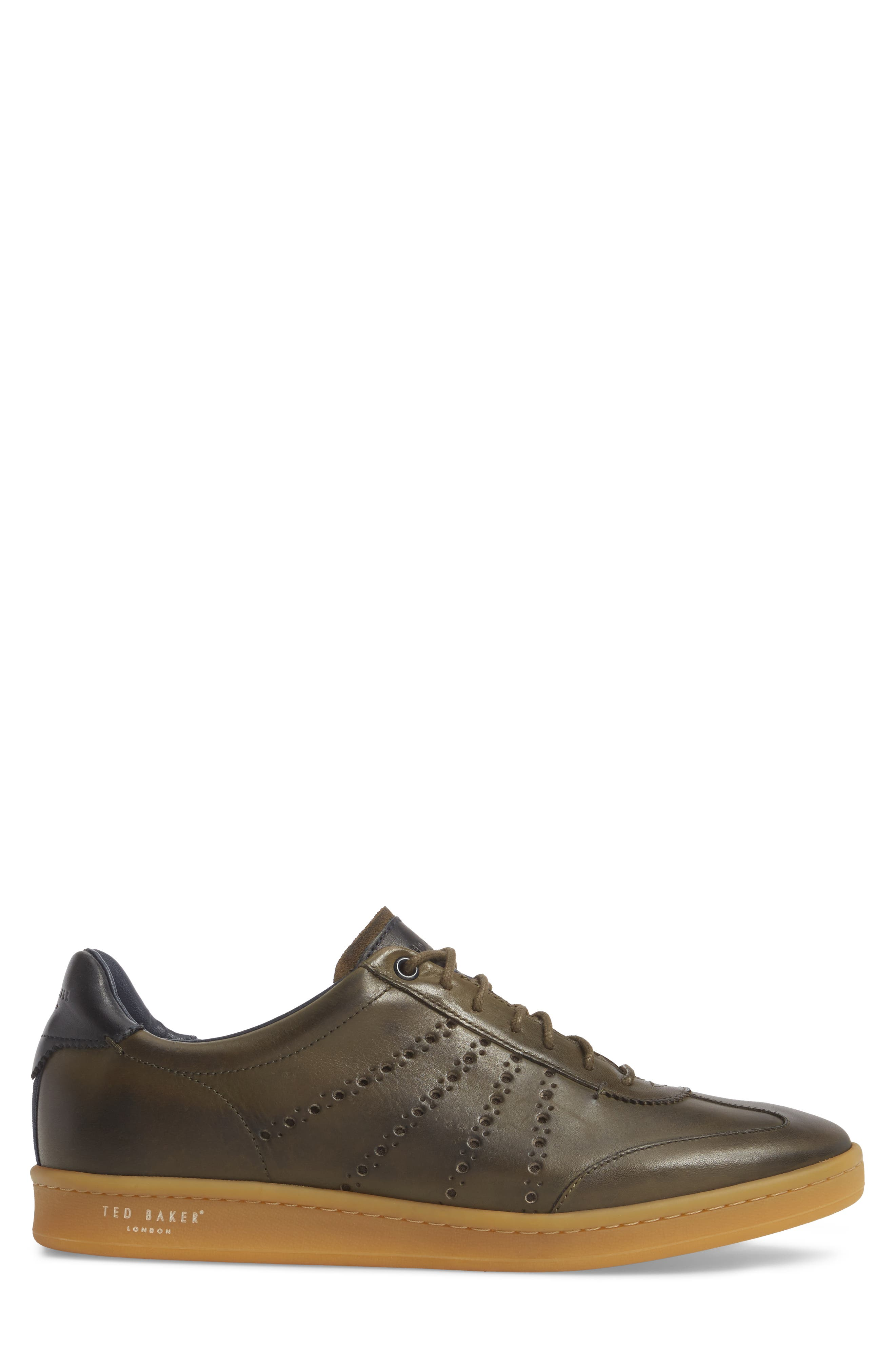 Orlee Sneaker,                             Alternate thumbnail 3, color,                             Dark Green Leather
