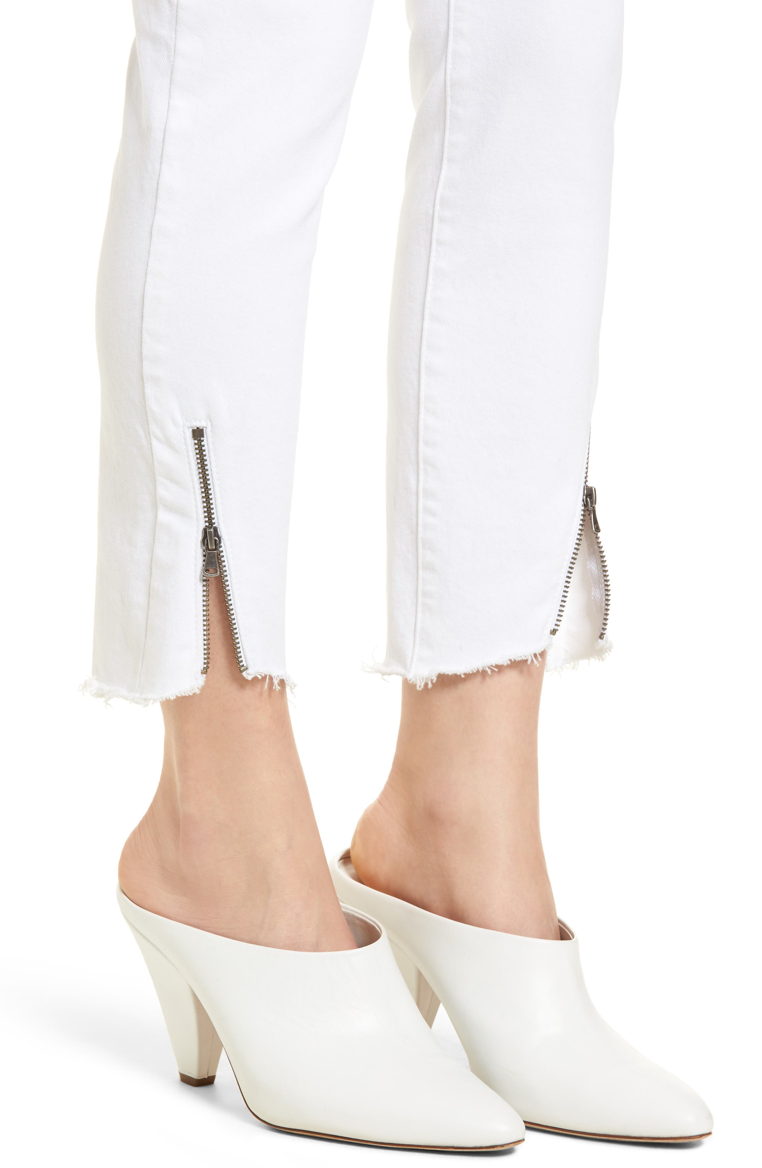 Verdugo Crop Ultra Skinny Jeans,                             Alternate thumbnail 4, color,                             Crisp White