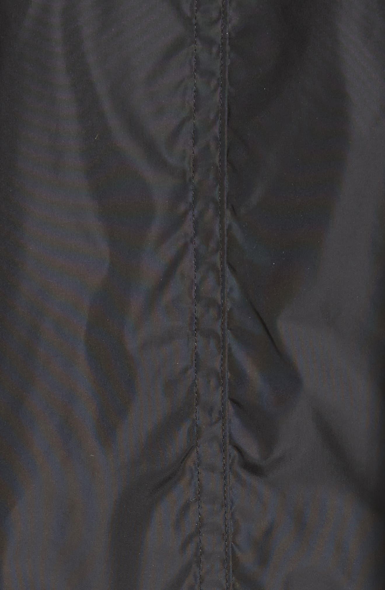 Raincoat with Inside Suspenders,                             Alternate thumbnail 6, color,                             Black